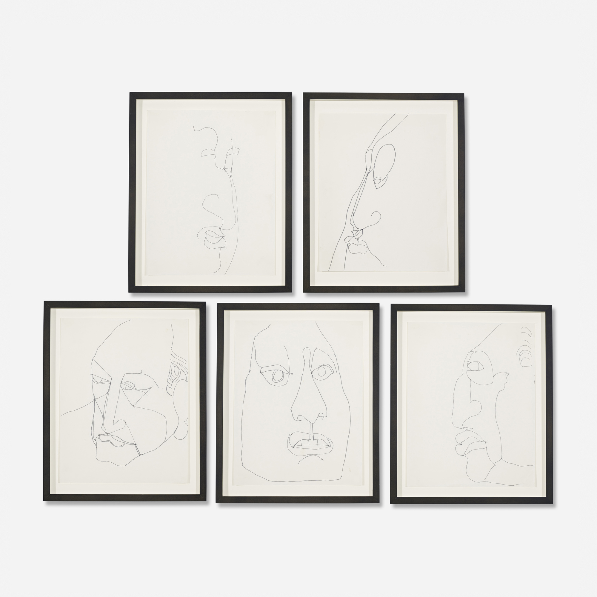 294: French / Untitled (five works) (1 of 2)