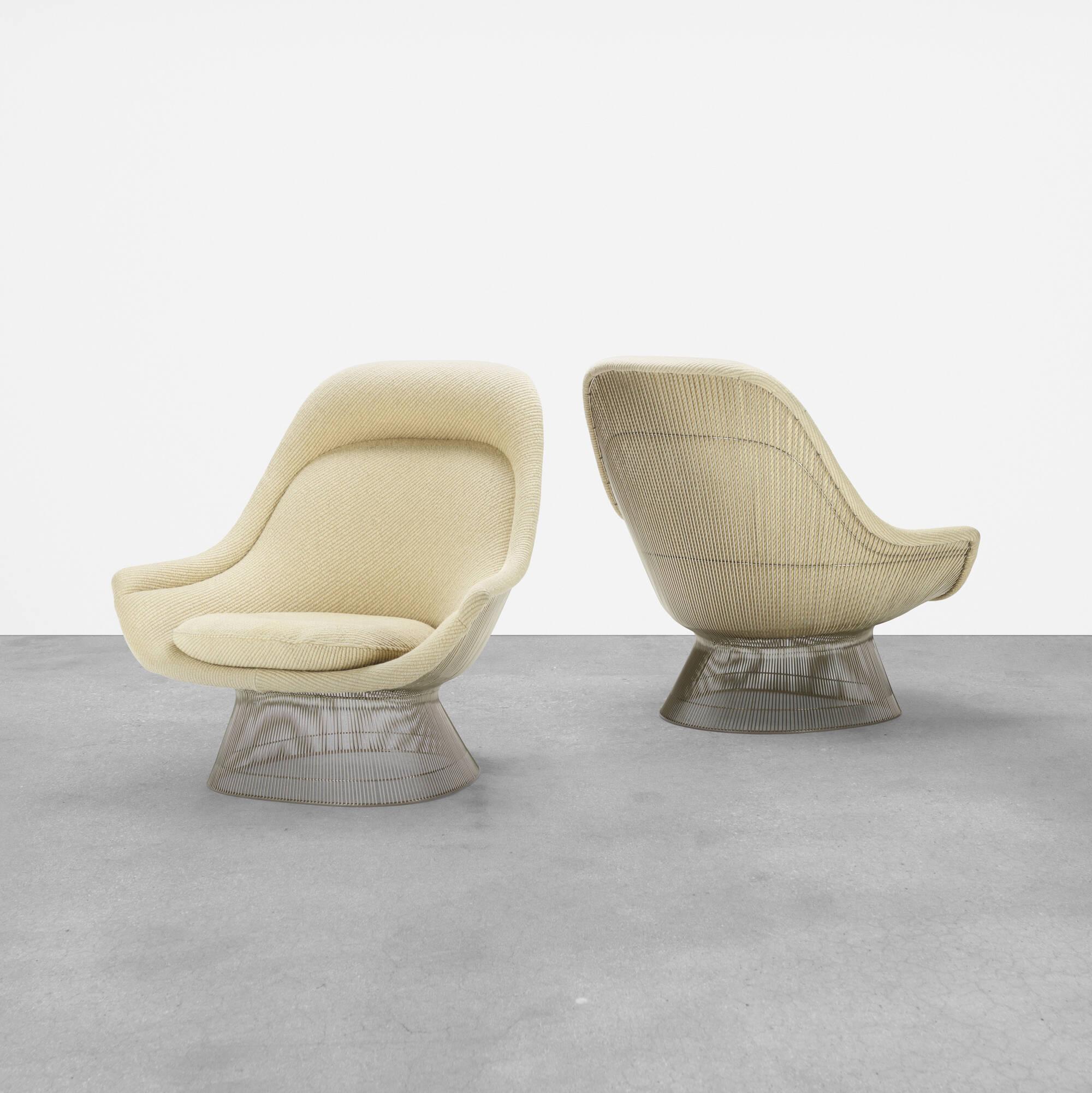 296: Warren Platner / lounge chairs, pair (1 of 4)