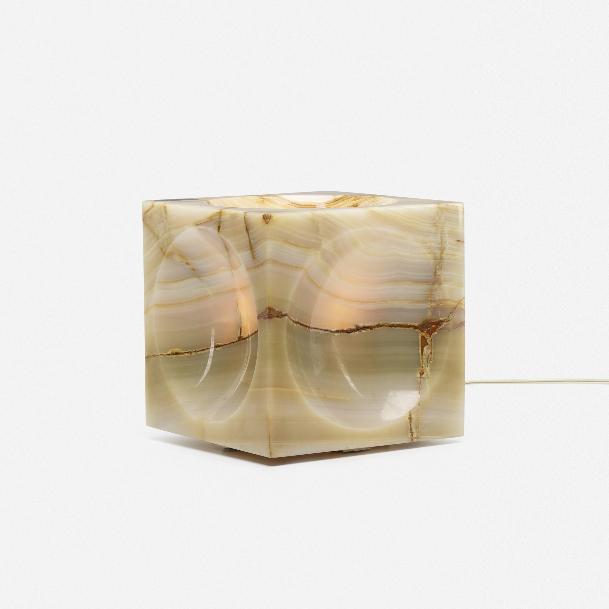 296: Angelo Mangiarotti / Cube table lamp (1 of 3)