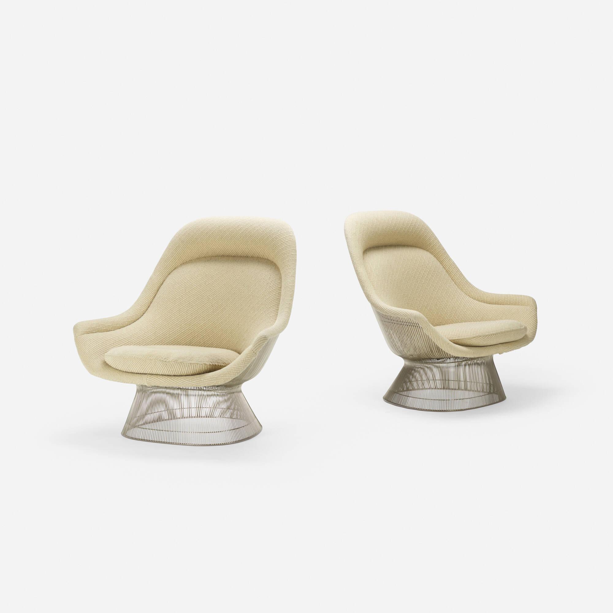 296: Warren Platner / lounge chairs, pair (2 of 4)