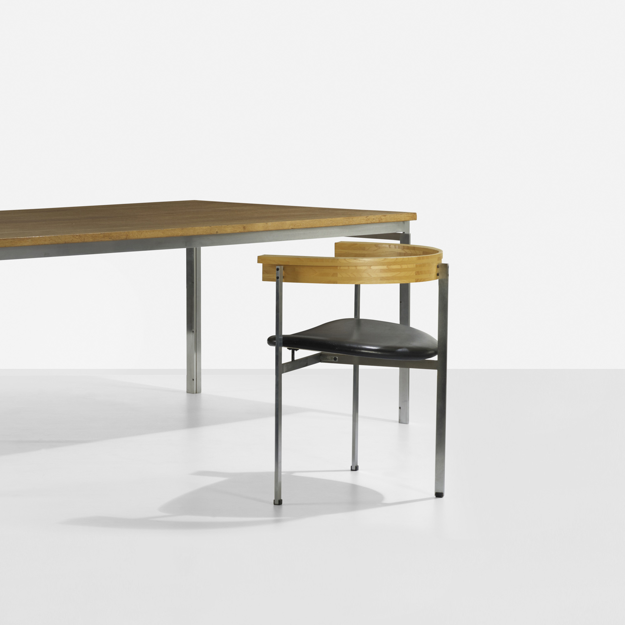 ... 296: Poul Kjaerholm / PK 55 Dining Table And PK 11 Chair (2 Of