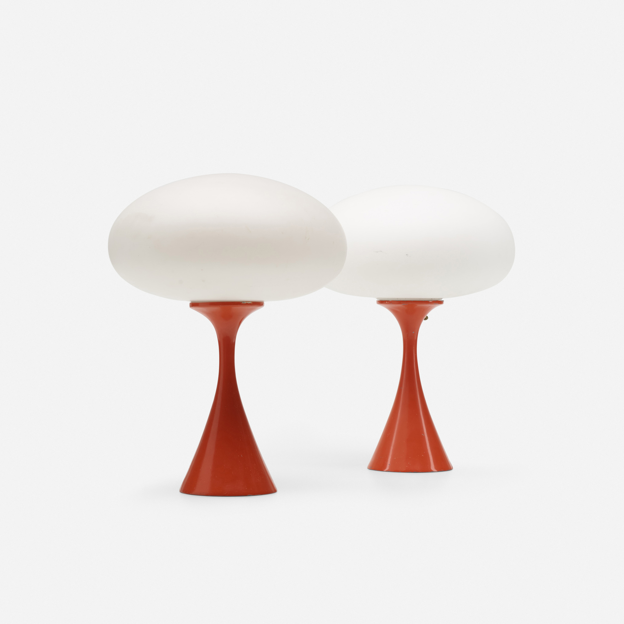 297: Laurel Lamp Co. / Mushroom table lamps, pair (2 of 2)