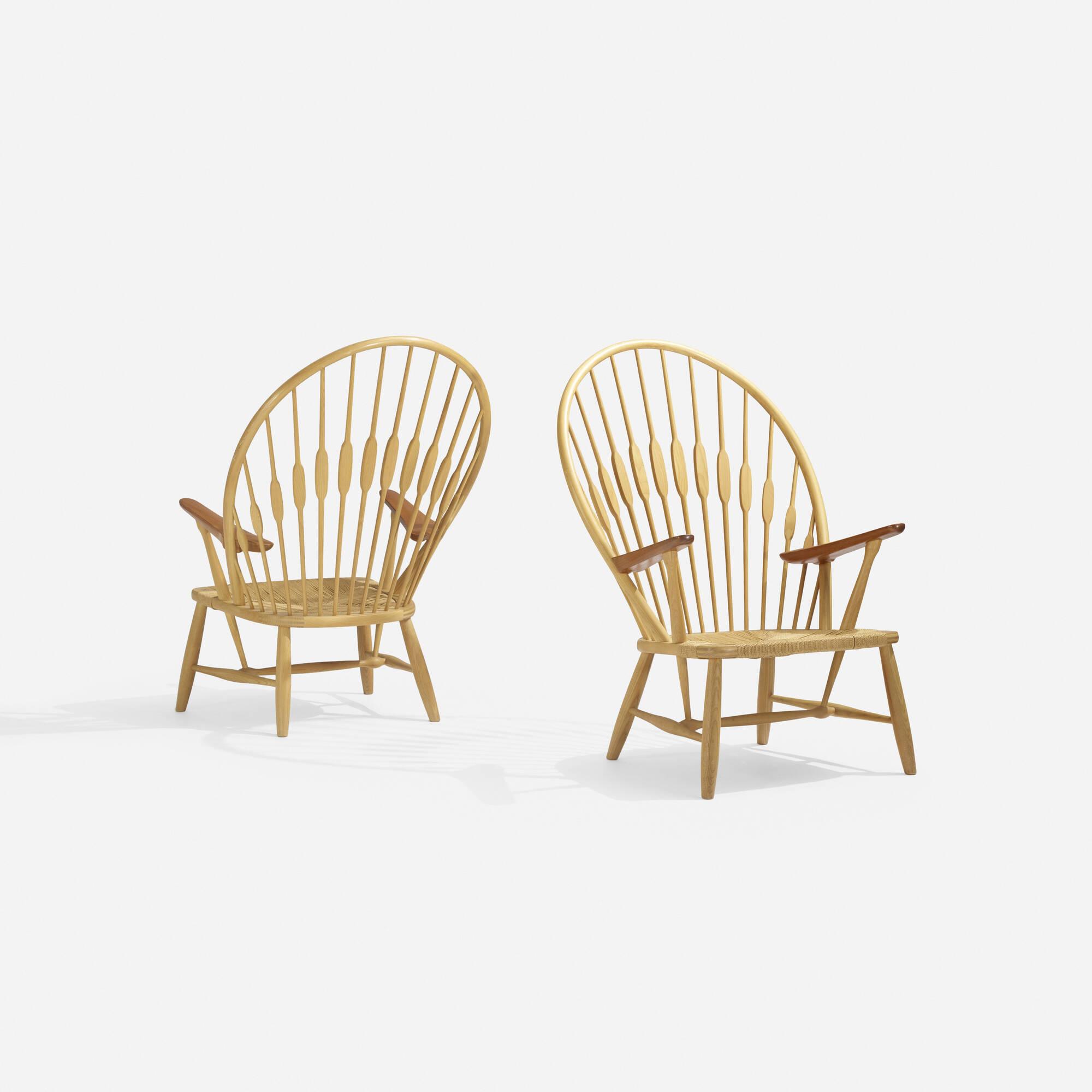 297: Hans J. Wegner / Peacock chairs, pair (2 of 4)