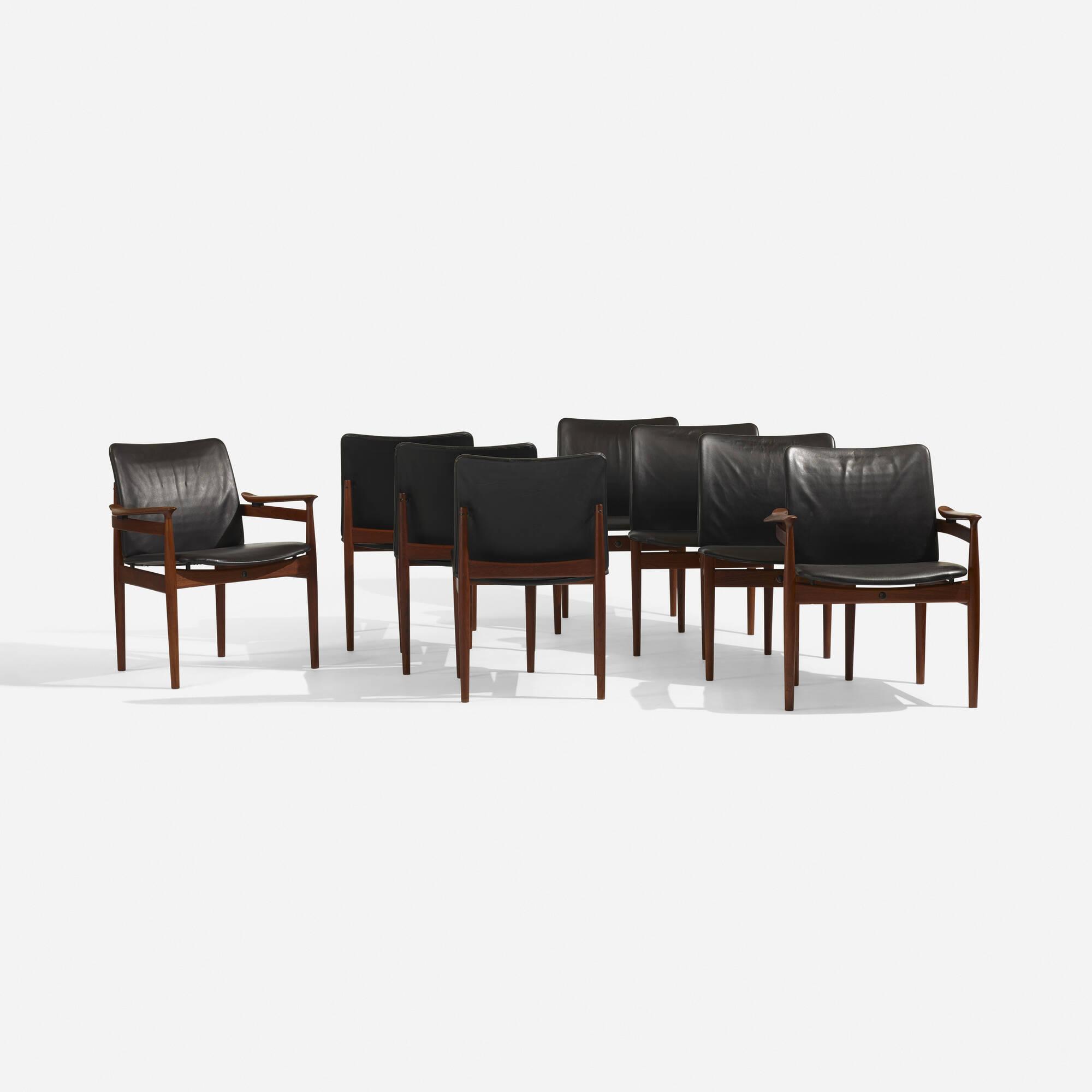298: Finn Juhl / chairs, set of eight (1 of 5)
