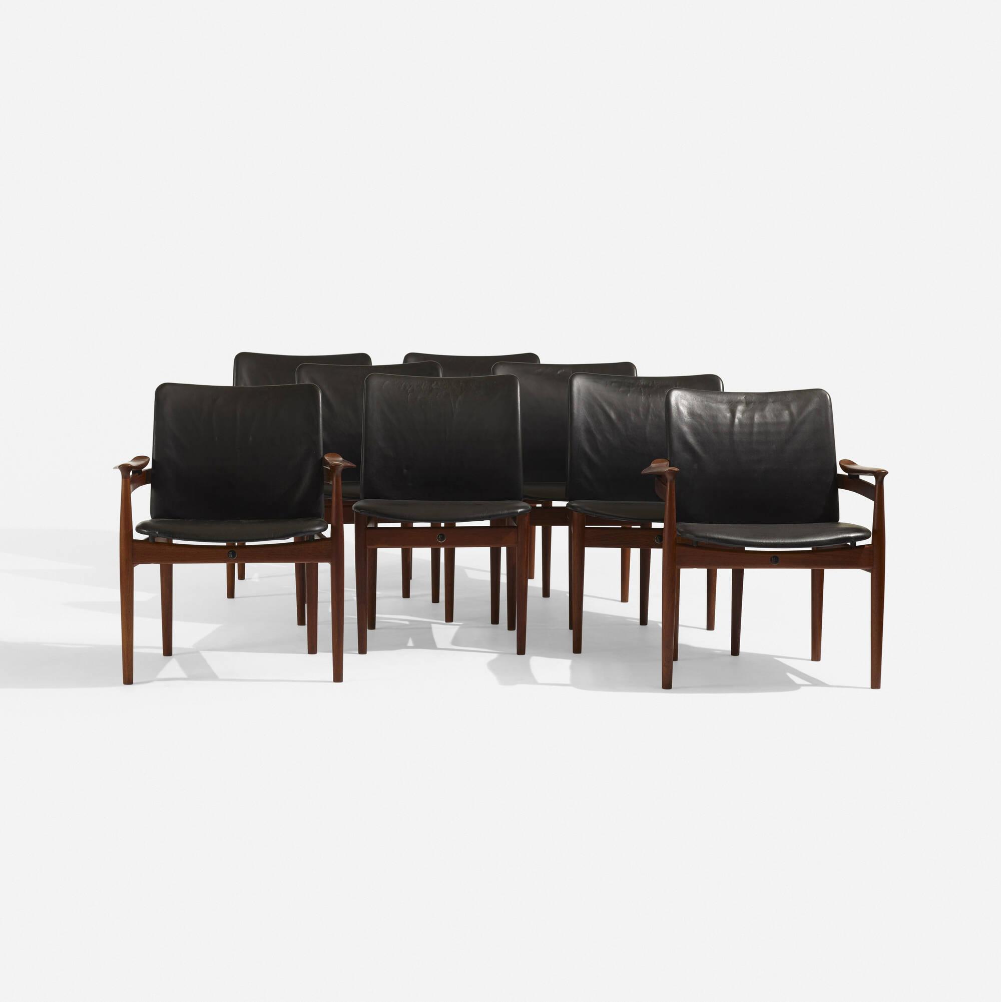 298: Finn Juhl / chairs, set of eight (2 of 5)