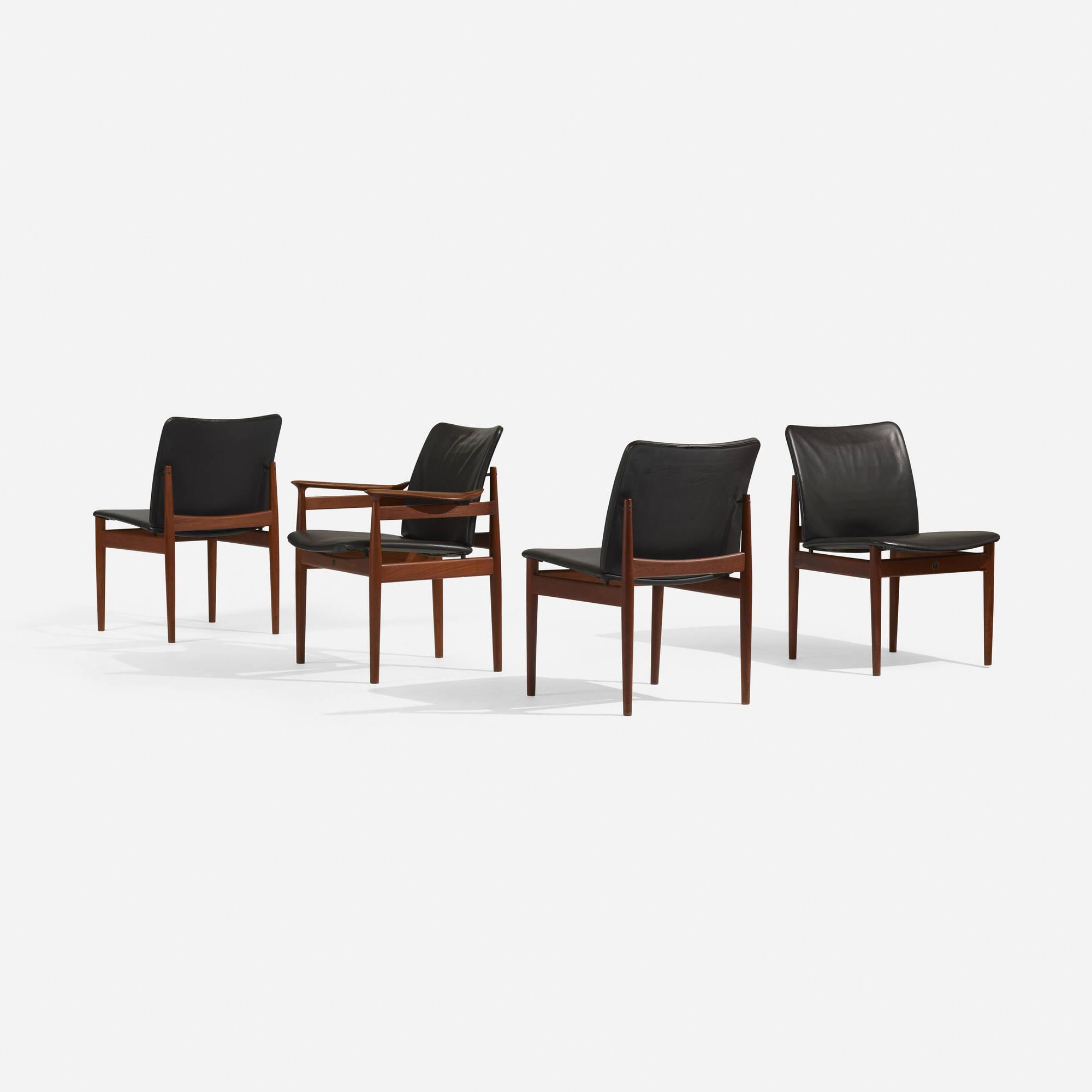 298: Finn Juhl / chairs, set of eight (3 of 5)