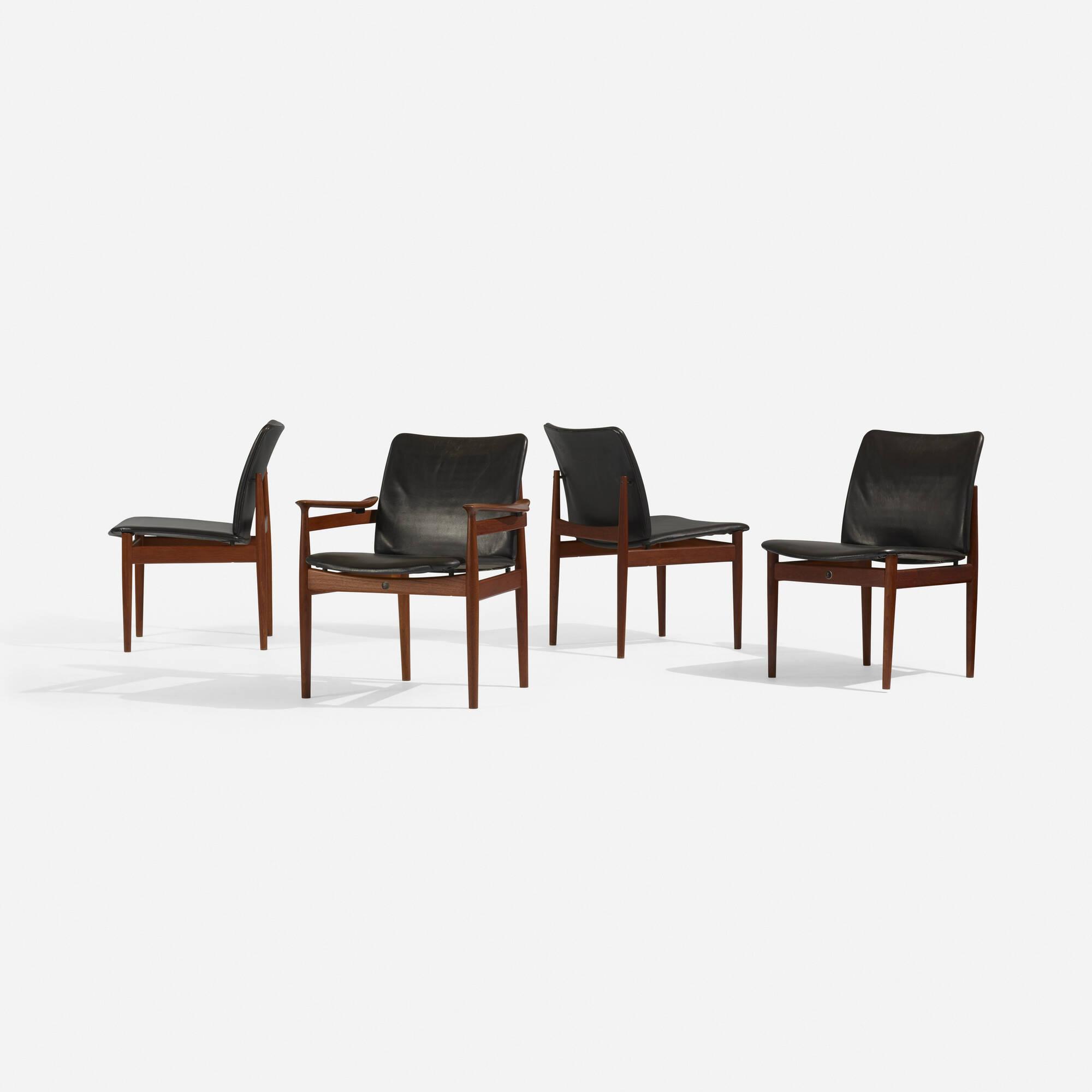 298: Finn Juhl / chairs, set of eight (4 of 5)