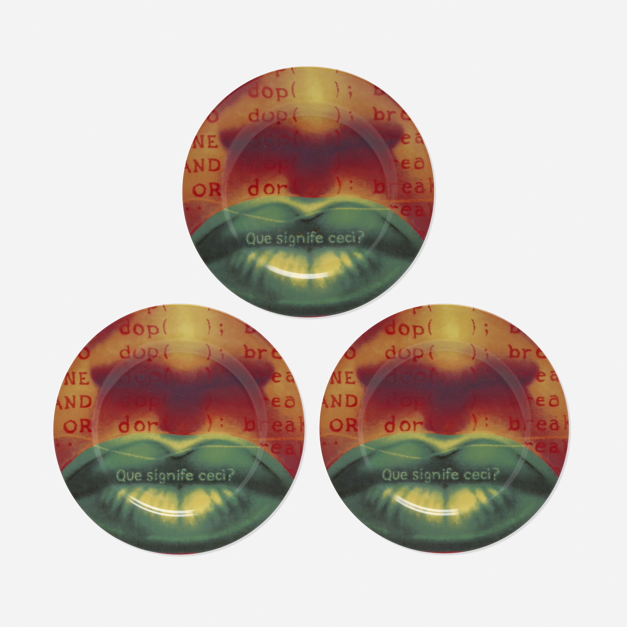 299: Ed Paschke / set of three plates (from Editions for the Renaissance Society) (1 of 2)
