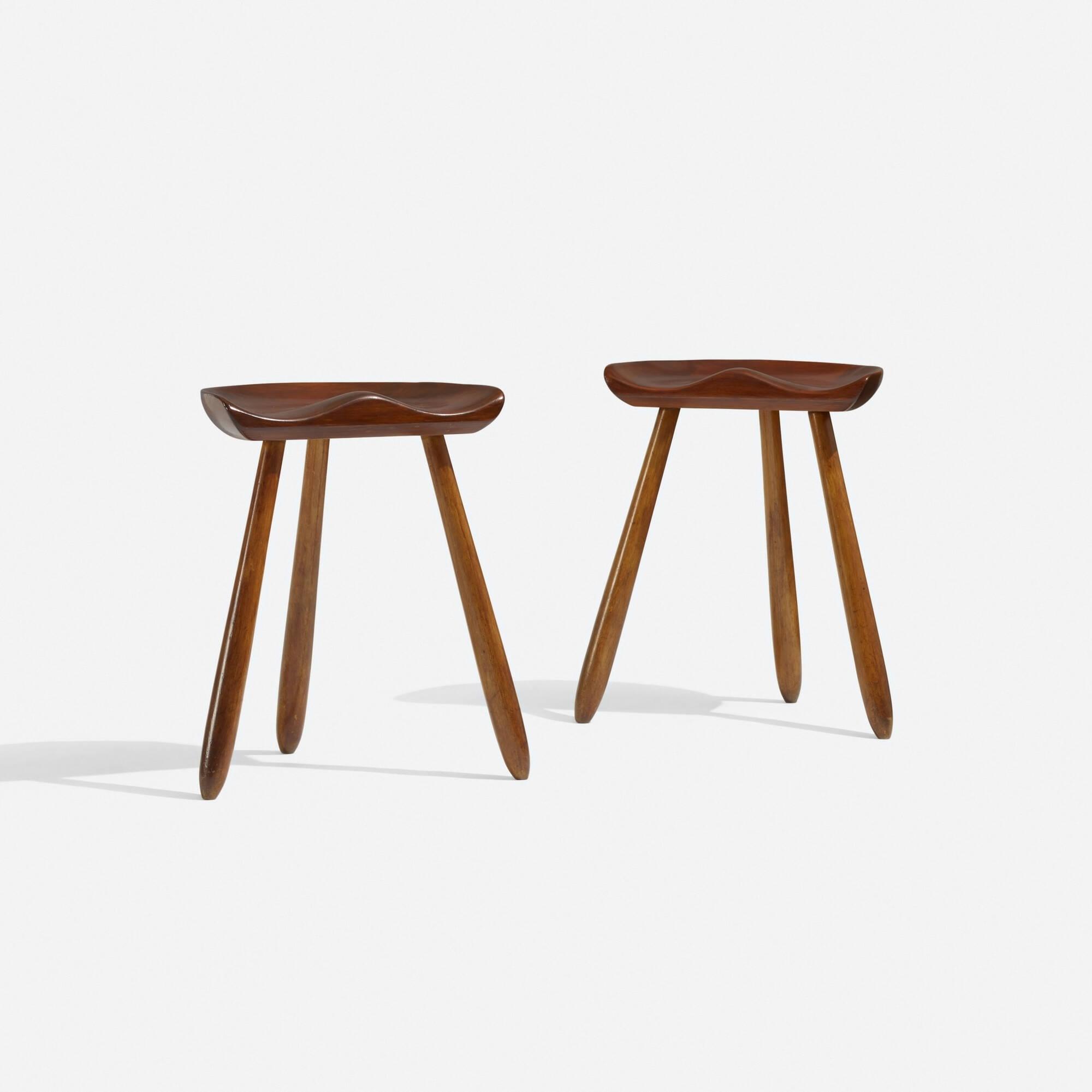 299: Arne Hovmand-Olsen / stools, pair (1 of 3)