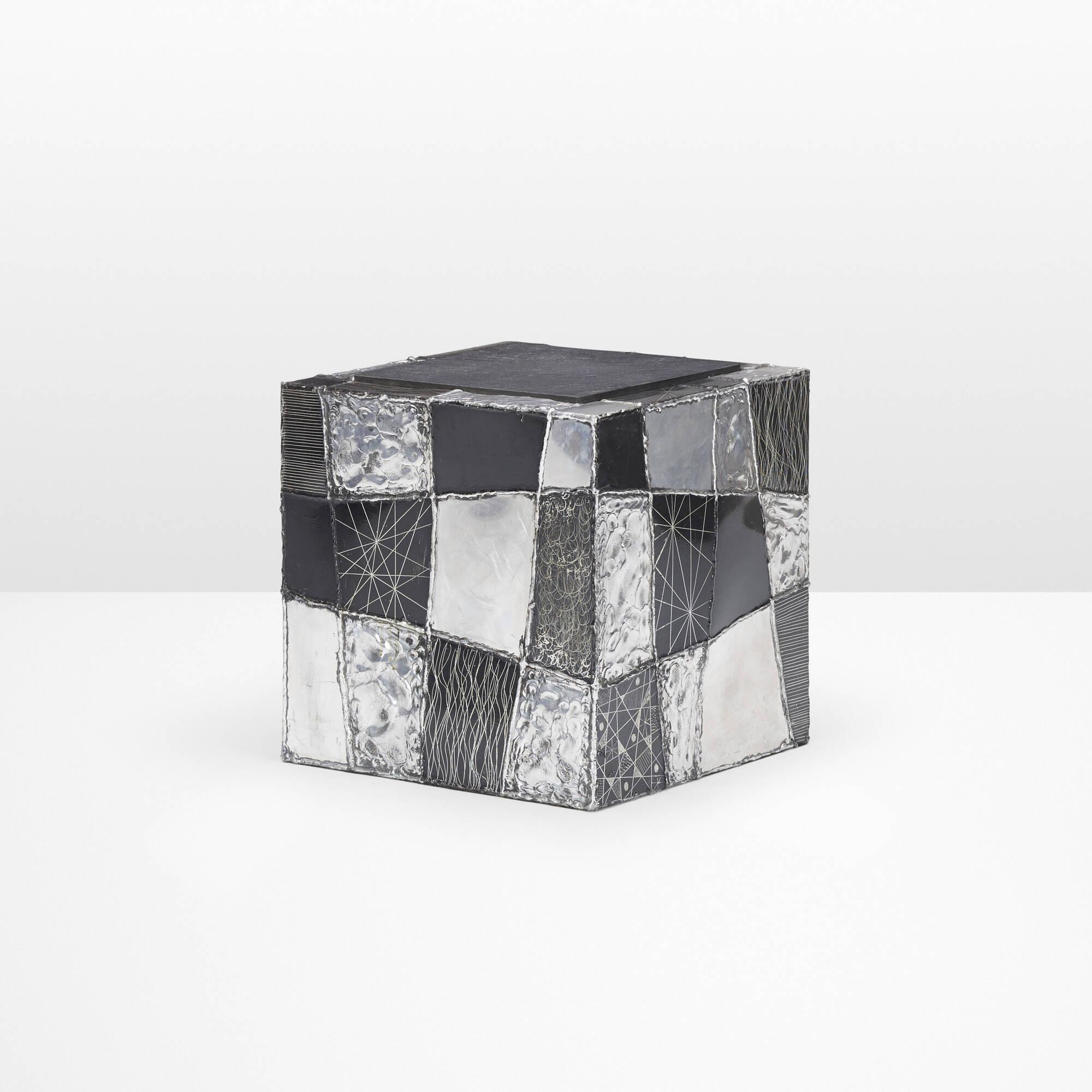 2: Paul Evans / Argente cube table, model PE 37 (1 of 3)