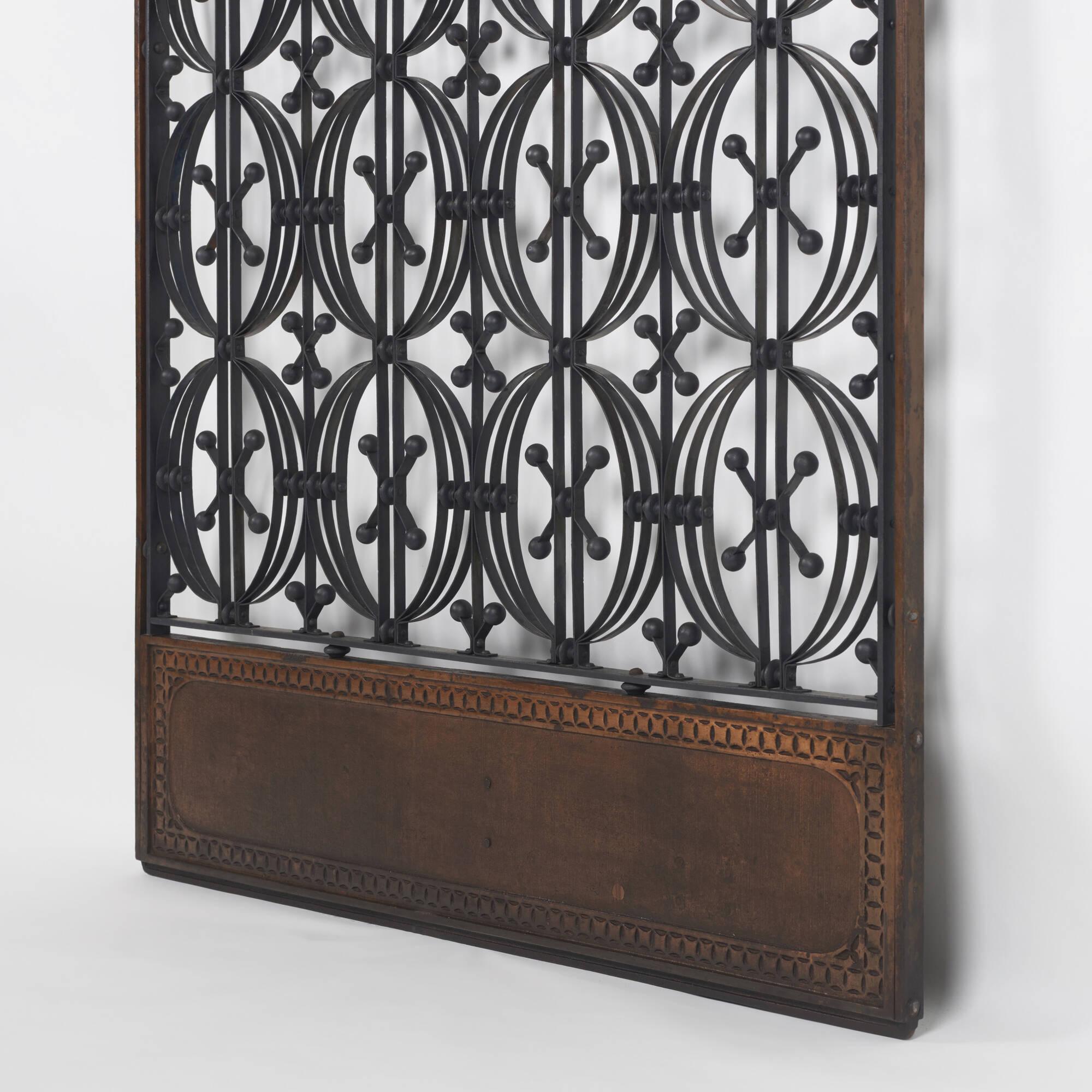 ... 2: Dankmar Adler And Louis Sullivan / Elevator Door From The Chicago  Stock Exchange (