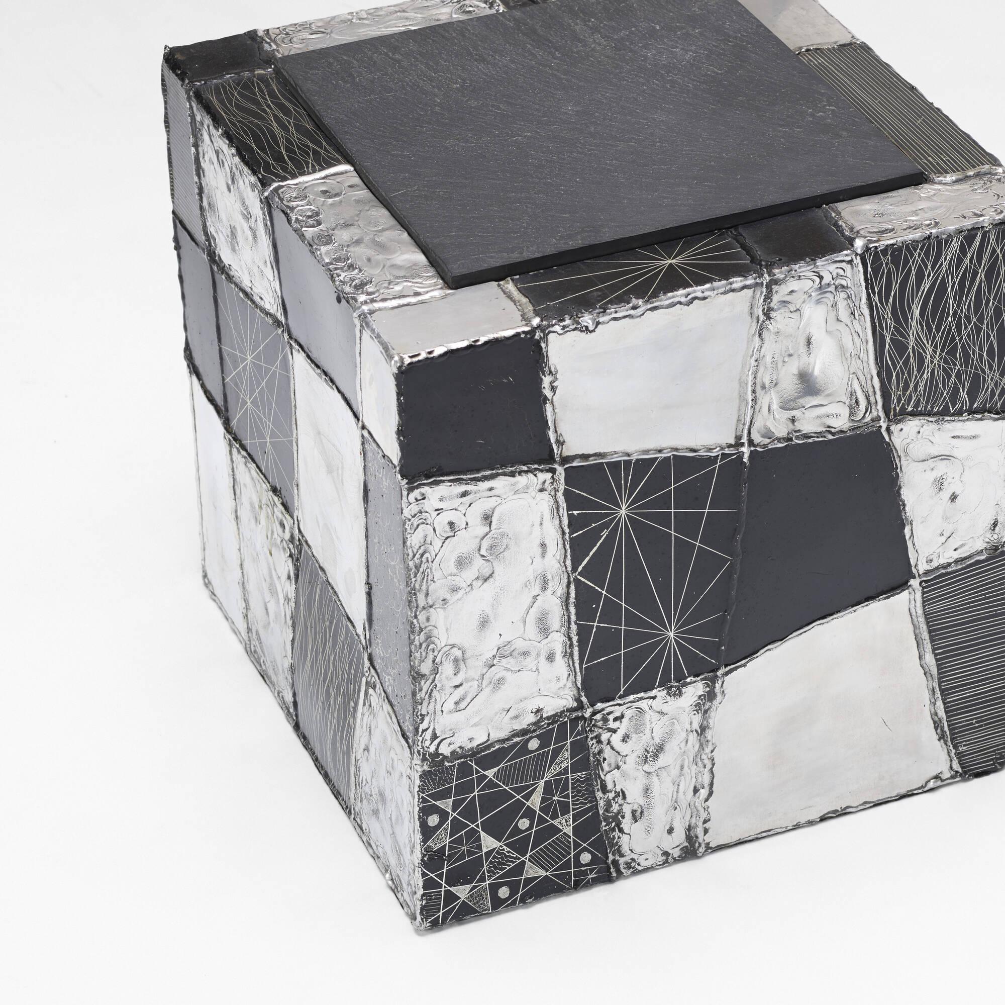 2: Paul Evans / Argente cube table, model PE 37 (3 of 3)