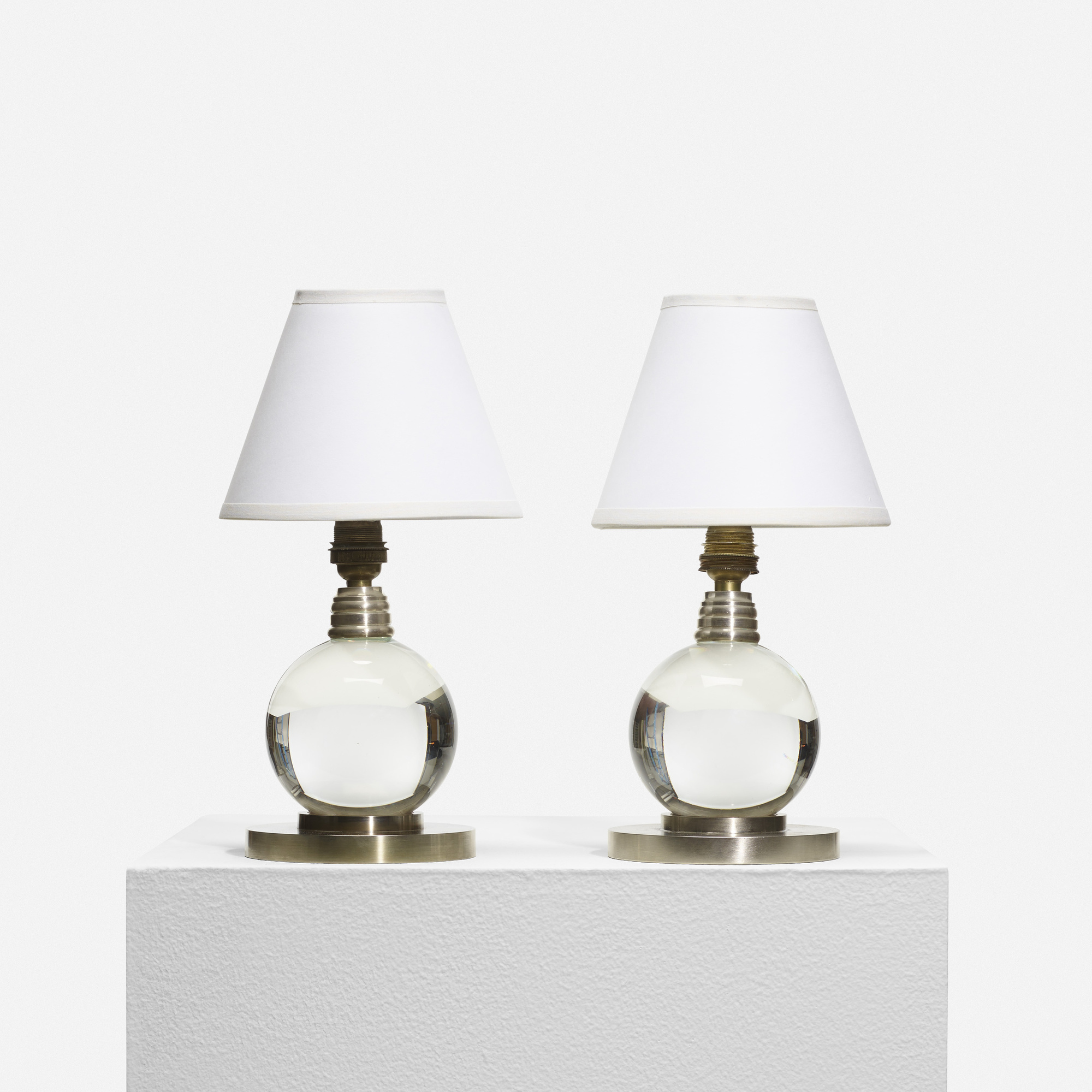300: Jacques Adnet / table lamps model 7706, pair (1 of 2)
