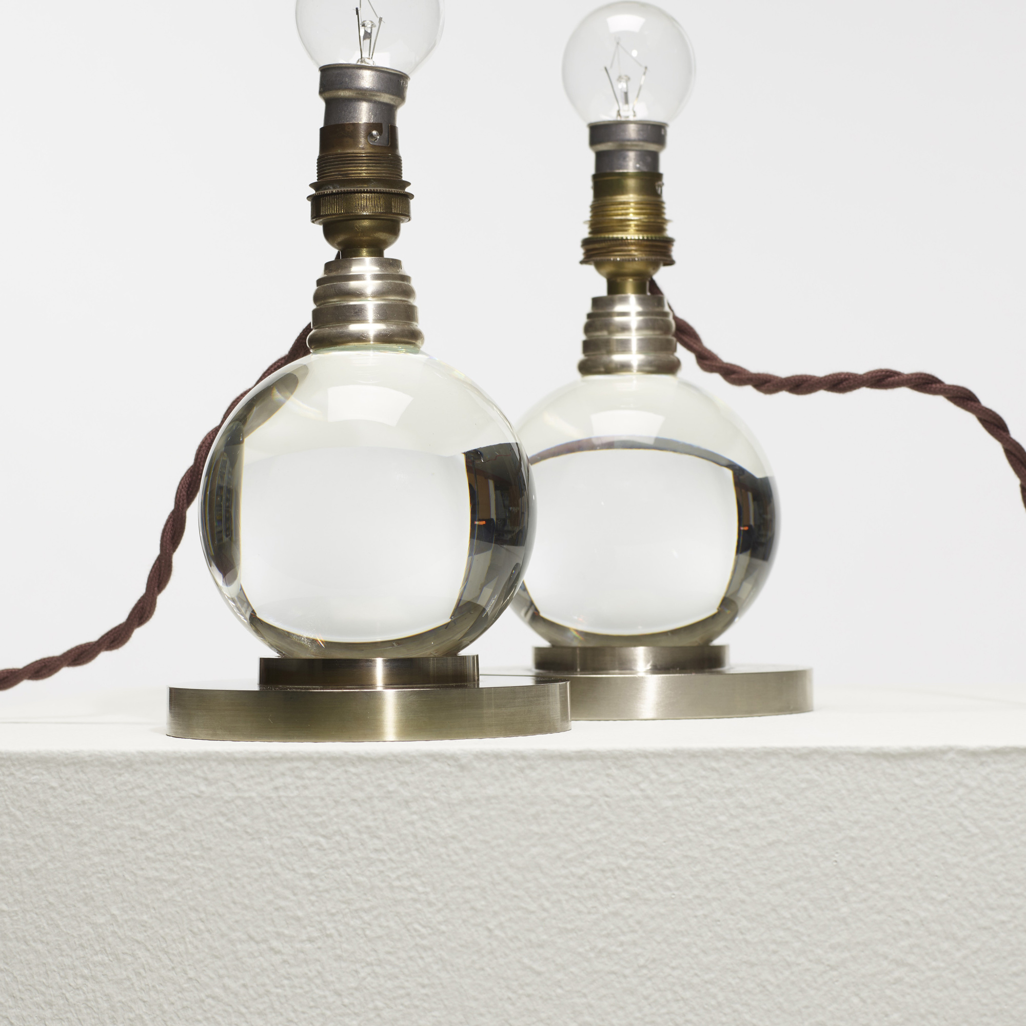 300: Jacques Adnet / table lamps model 7706, pair (2 of 2)