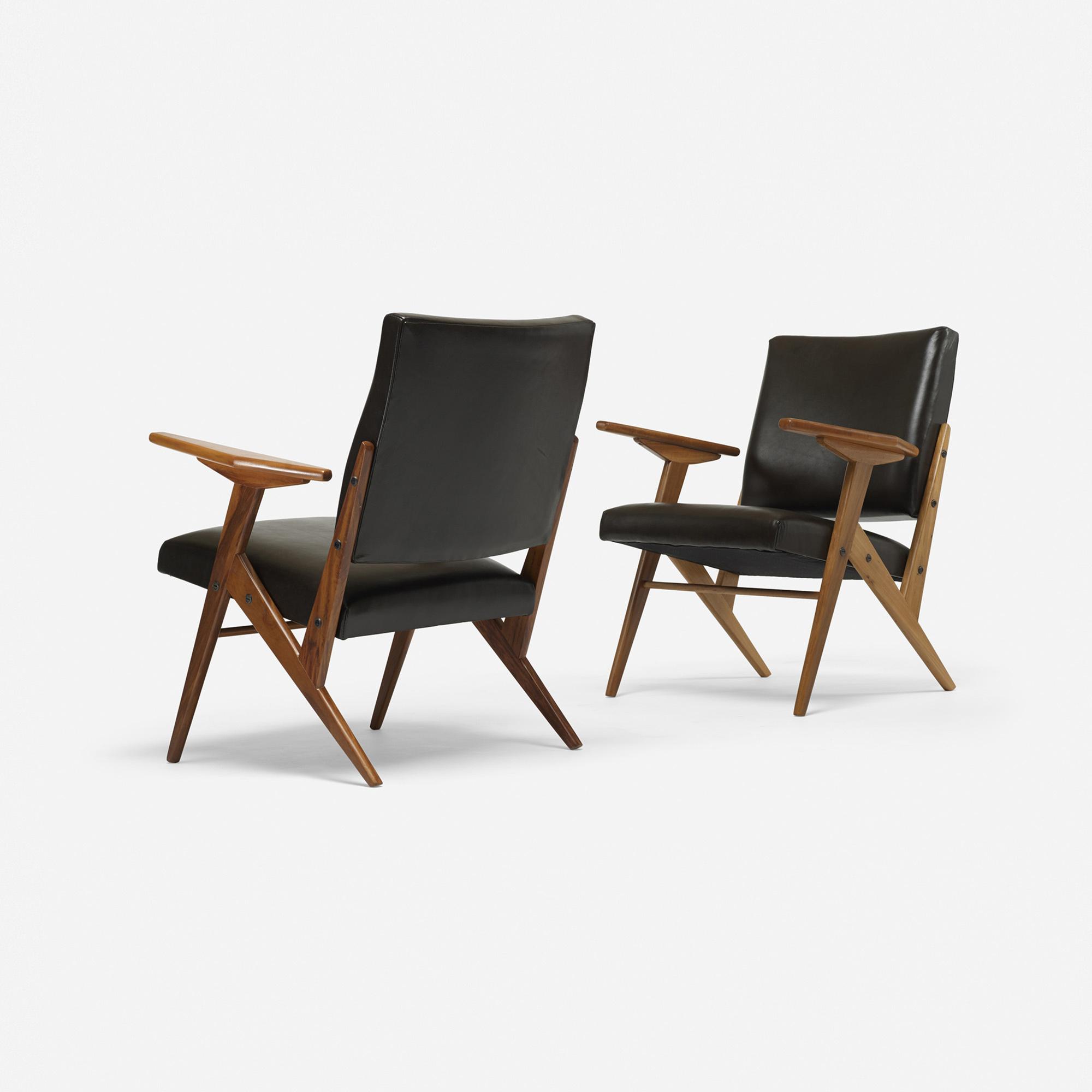 ... 301: José Zanine Caldas / Z Line Lounge Chairs, Pair (2 Of