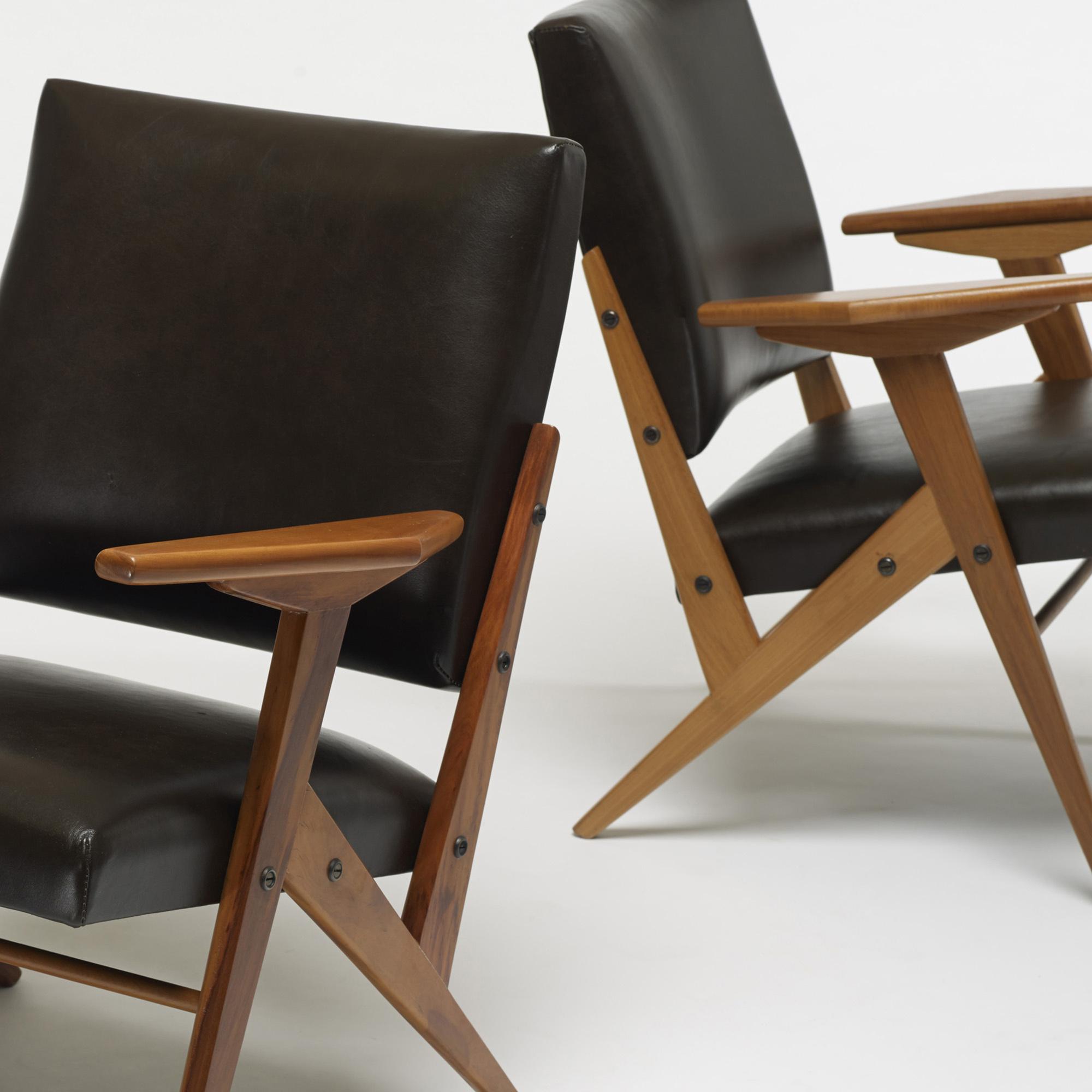 ... 301: José Zanine Caldas / Z Line Lounge Chairs, Pair (3 Of