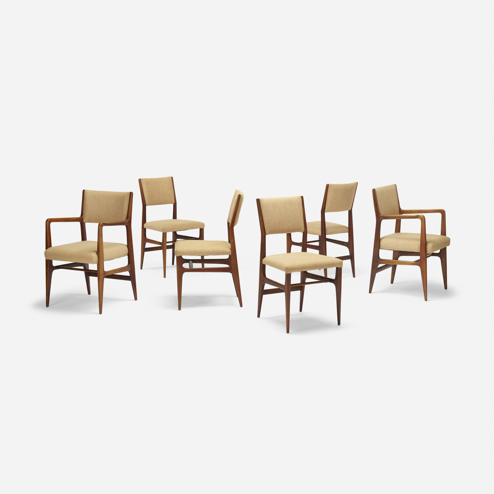 302: Gio Ponti / dining chairs, set of six (1 of 4)