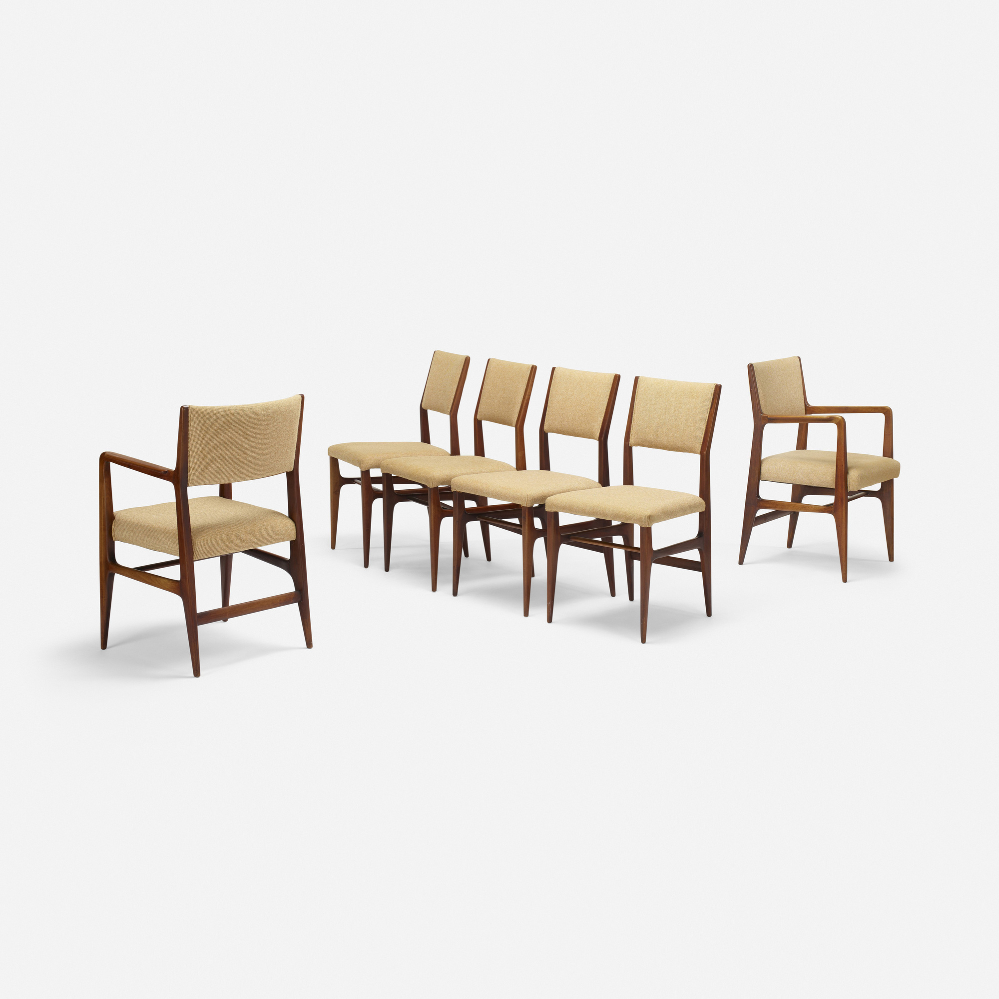 302: Gio Ponti / dining chairs, set of six (2 of 4)
