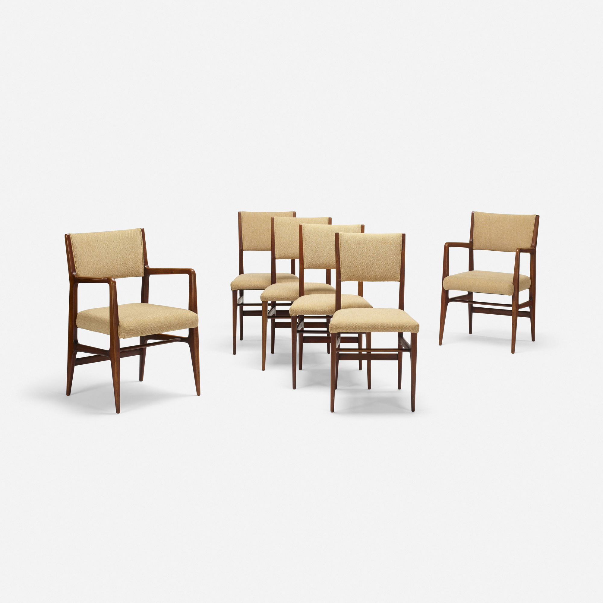 302: Gio Ponti / dining chairs, set of six (3 of 4)
