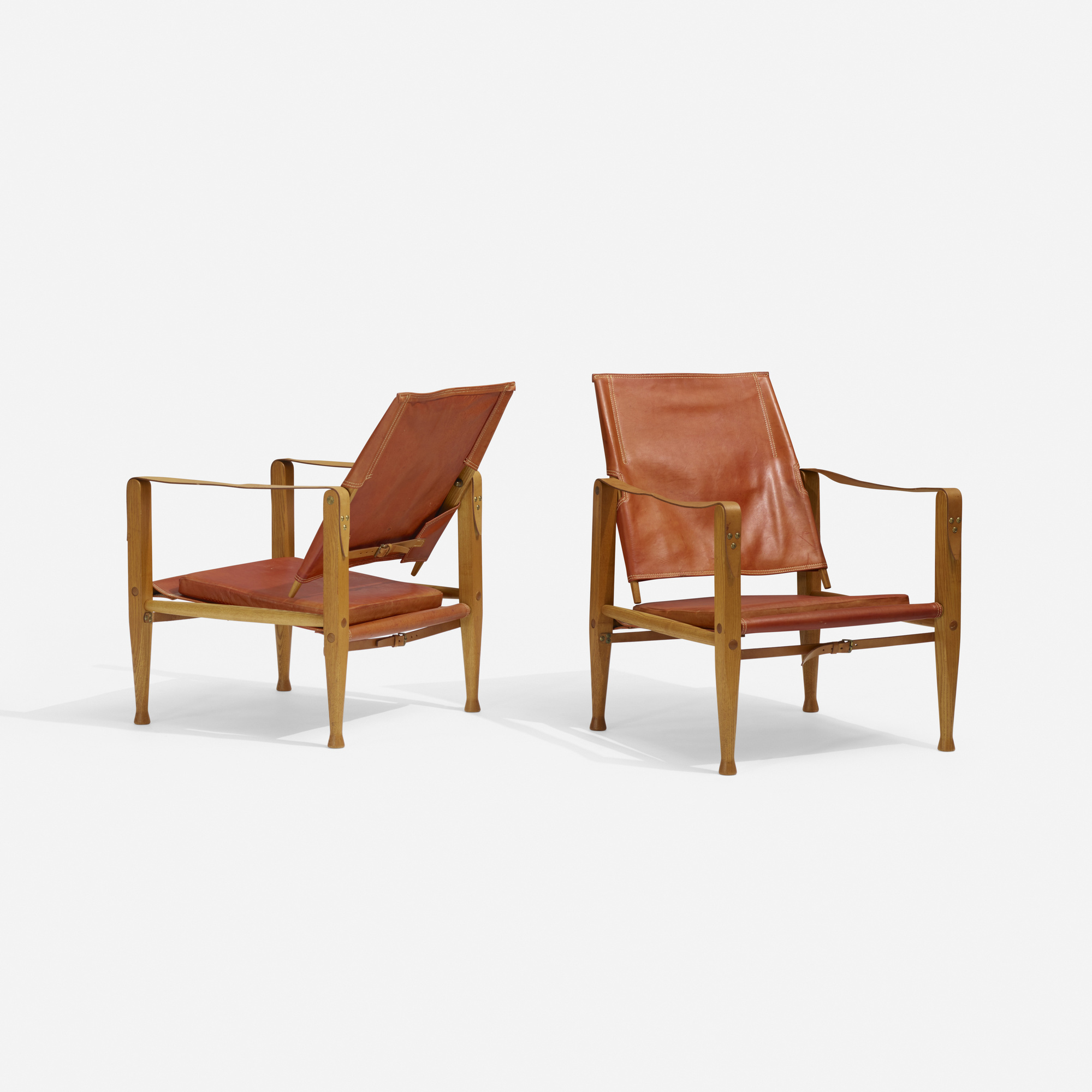 303 Kaare Klint Safari chairs pair Scandinavian Design 5