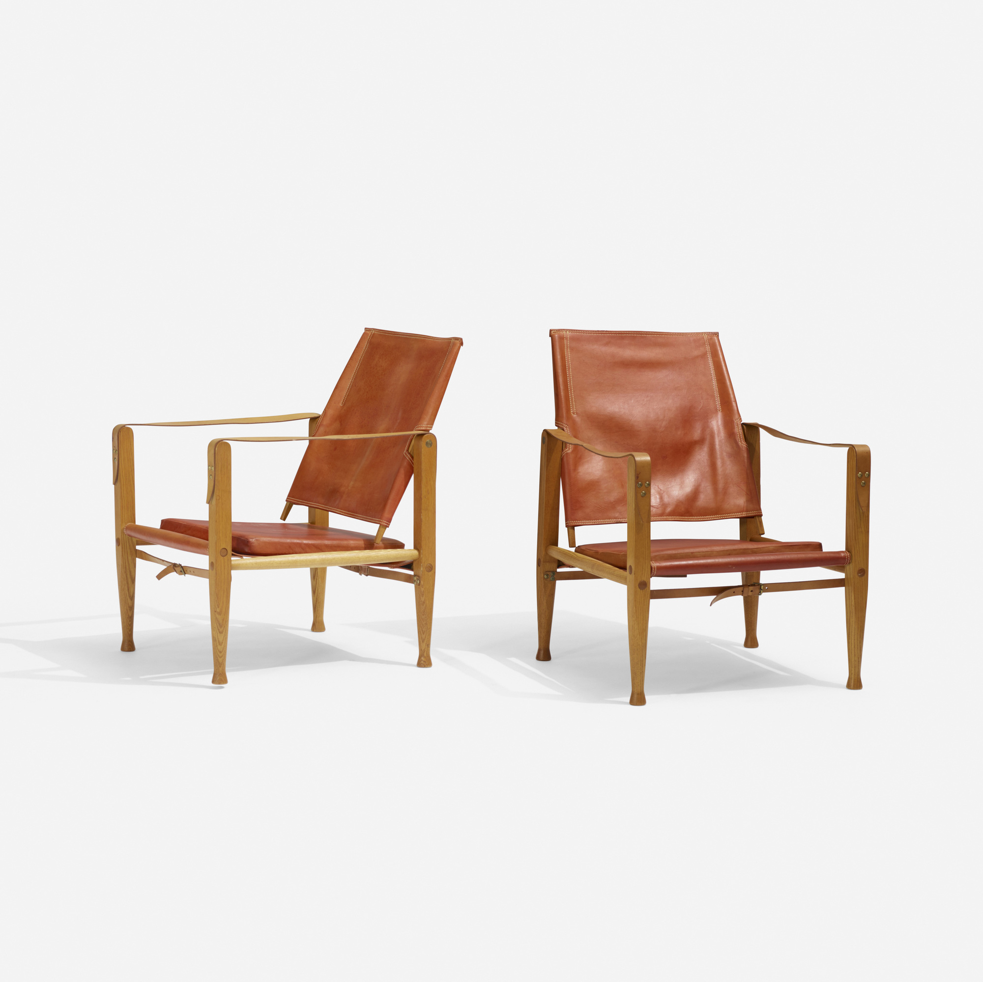 303: Kaare Klint / Safari chairs, pair (2 of 3)