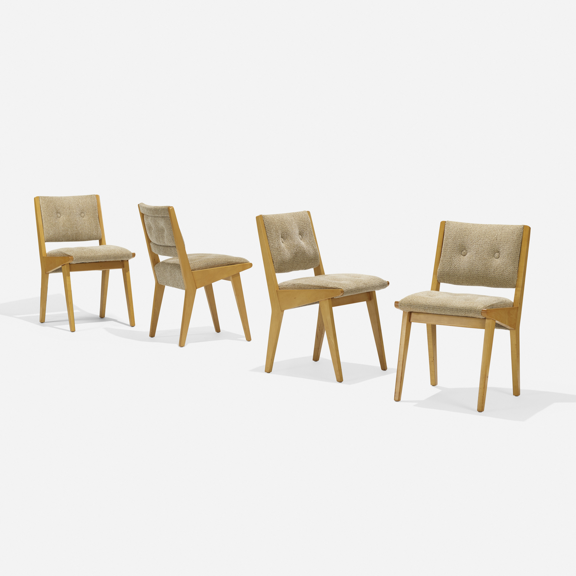305 jens risom dining chairs model 666usp set of four - Jens risom dining chairs ...