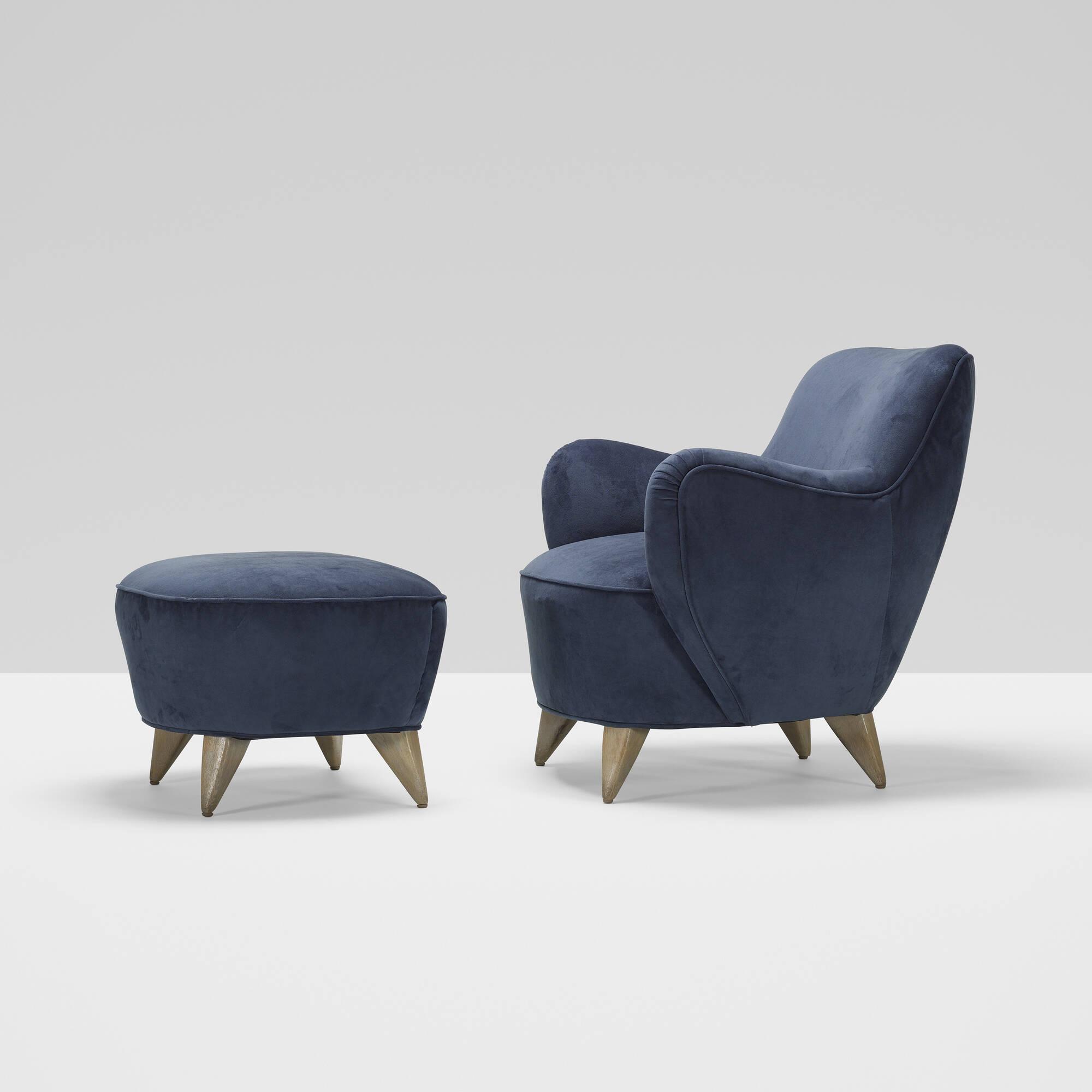 305 Vladimir Kagan Barrel chair and ottoman Design 11 June