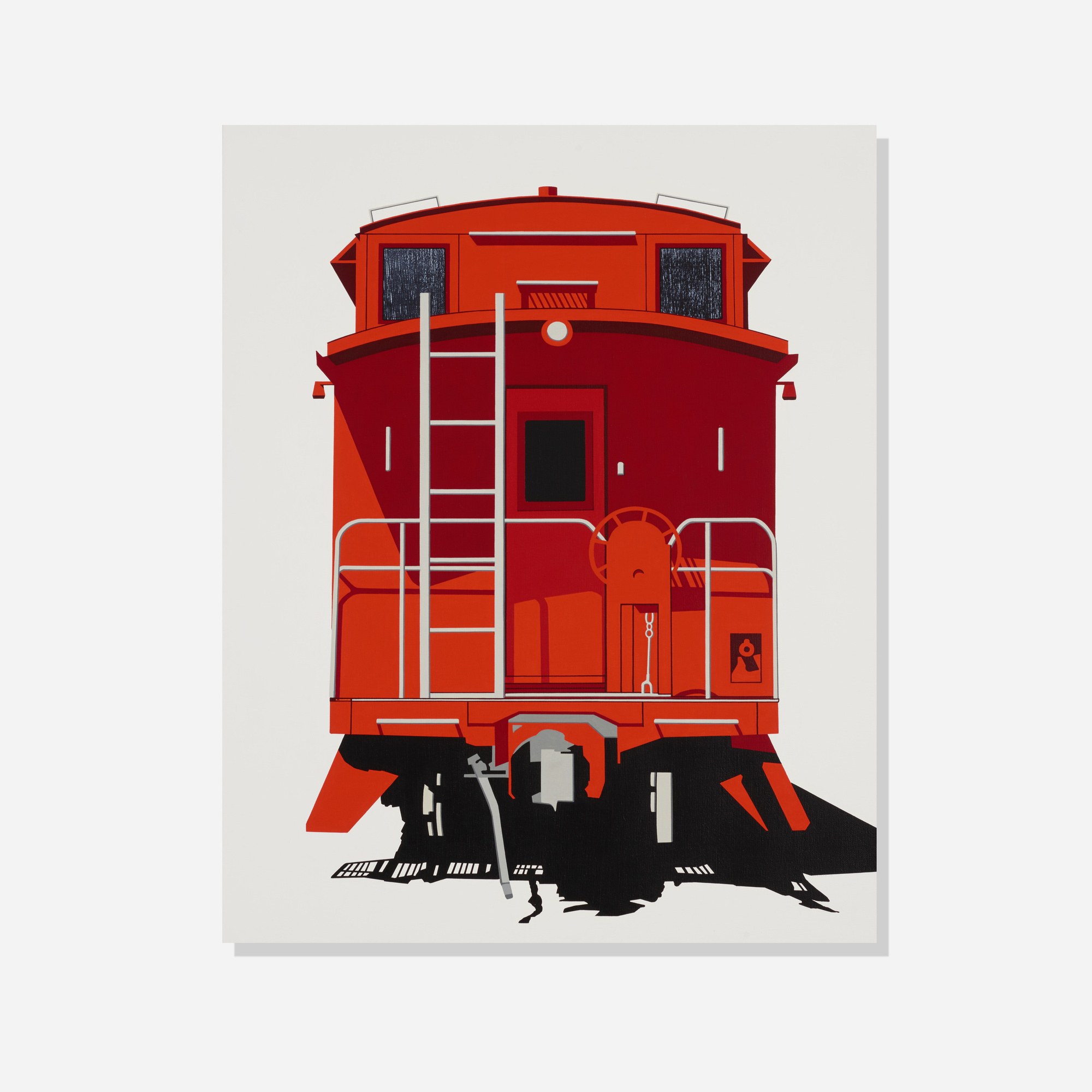 305: William Steiger / End View-Caboose (1 of 2)