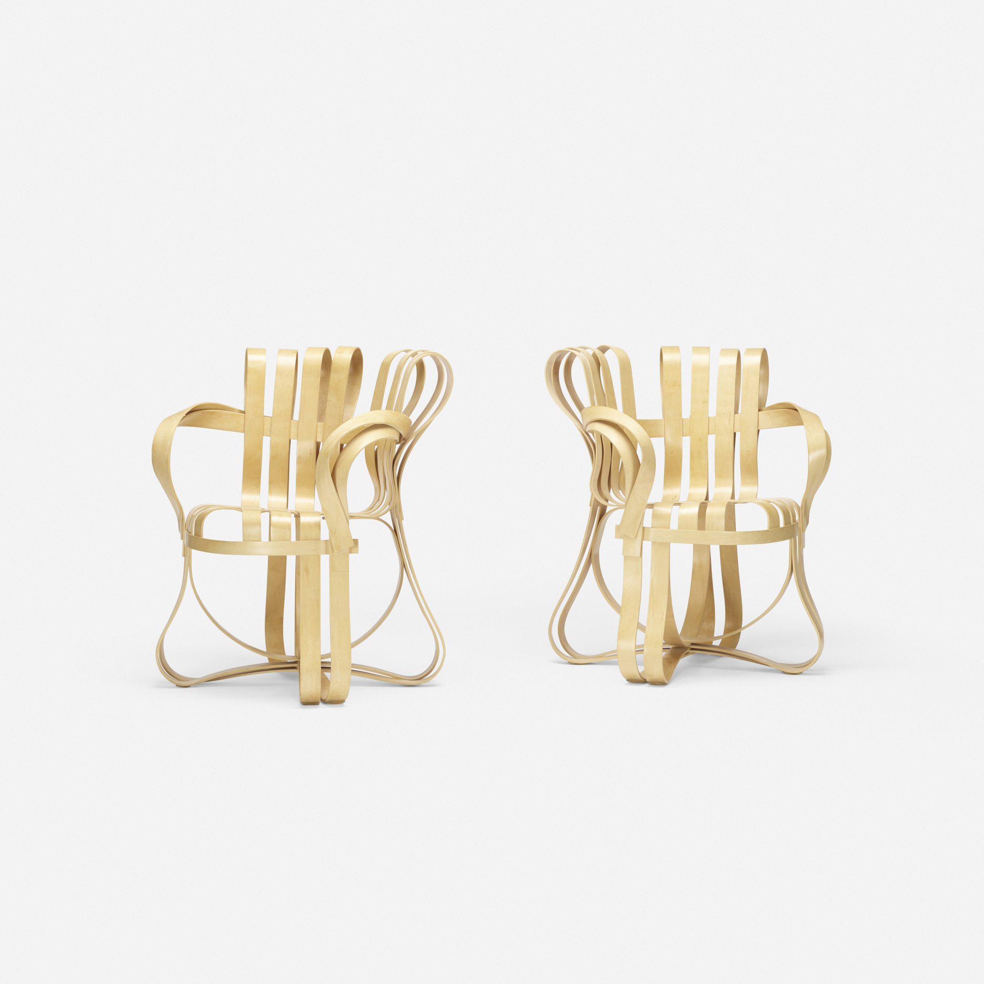 305: Frank Gehry / Cross Check armchairs, pair (1 of 2)