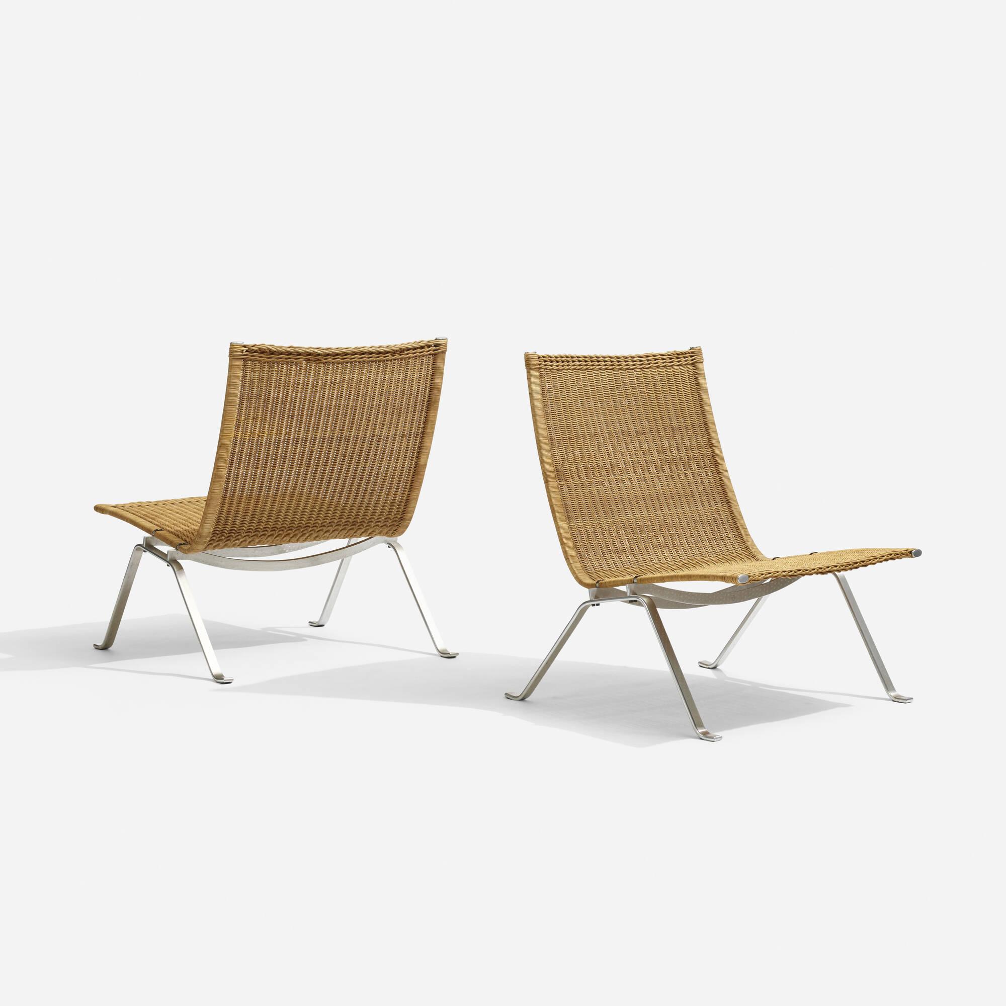 305: Poul Kjaerholm / PK-22 chairs, pair (1 of 4)
