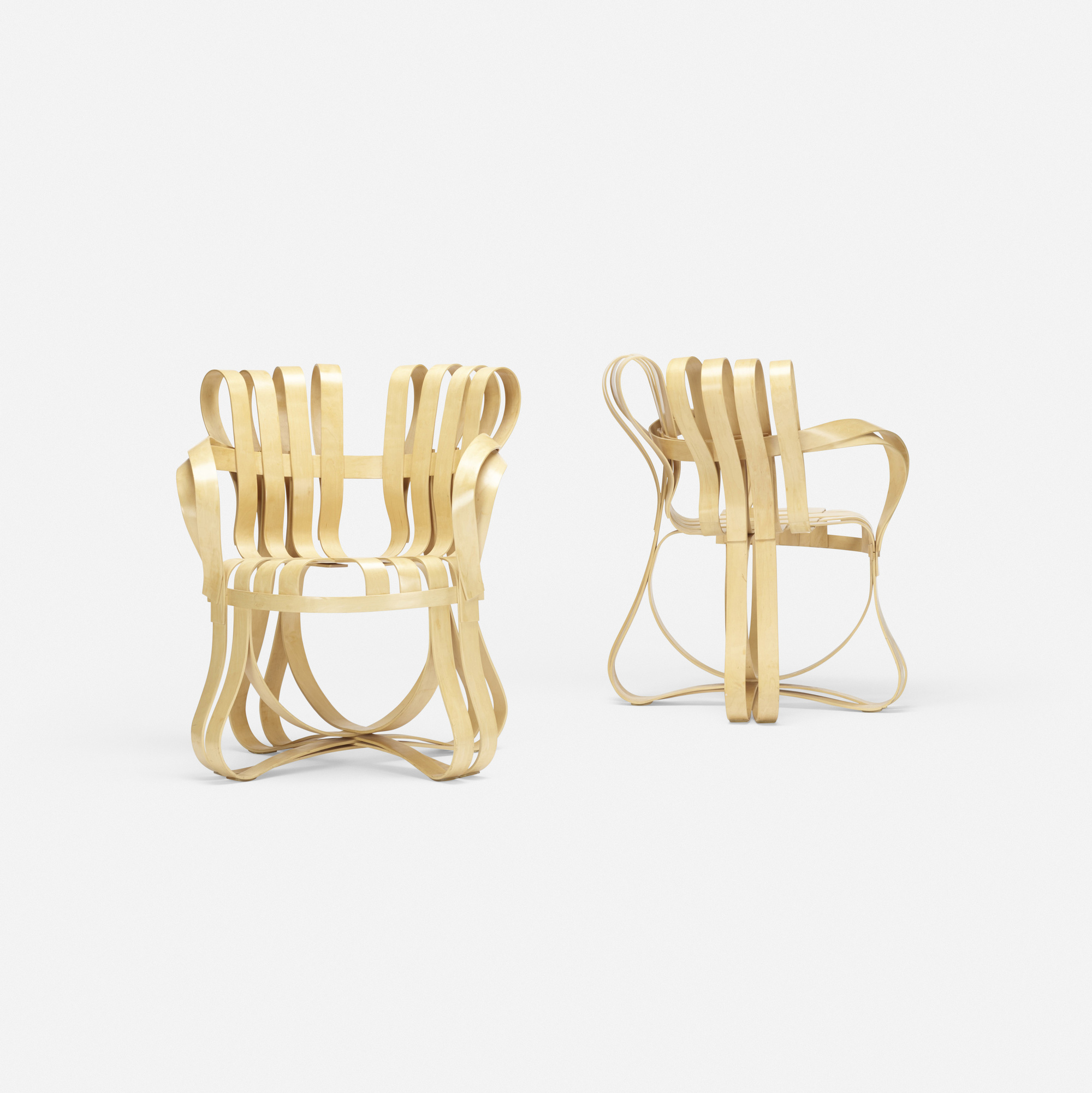 305: Frank Gehry / Cross Check armchairs, pair (2 of 2)