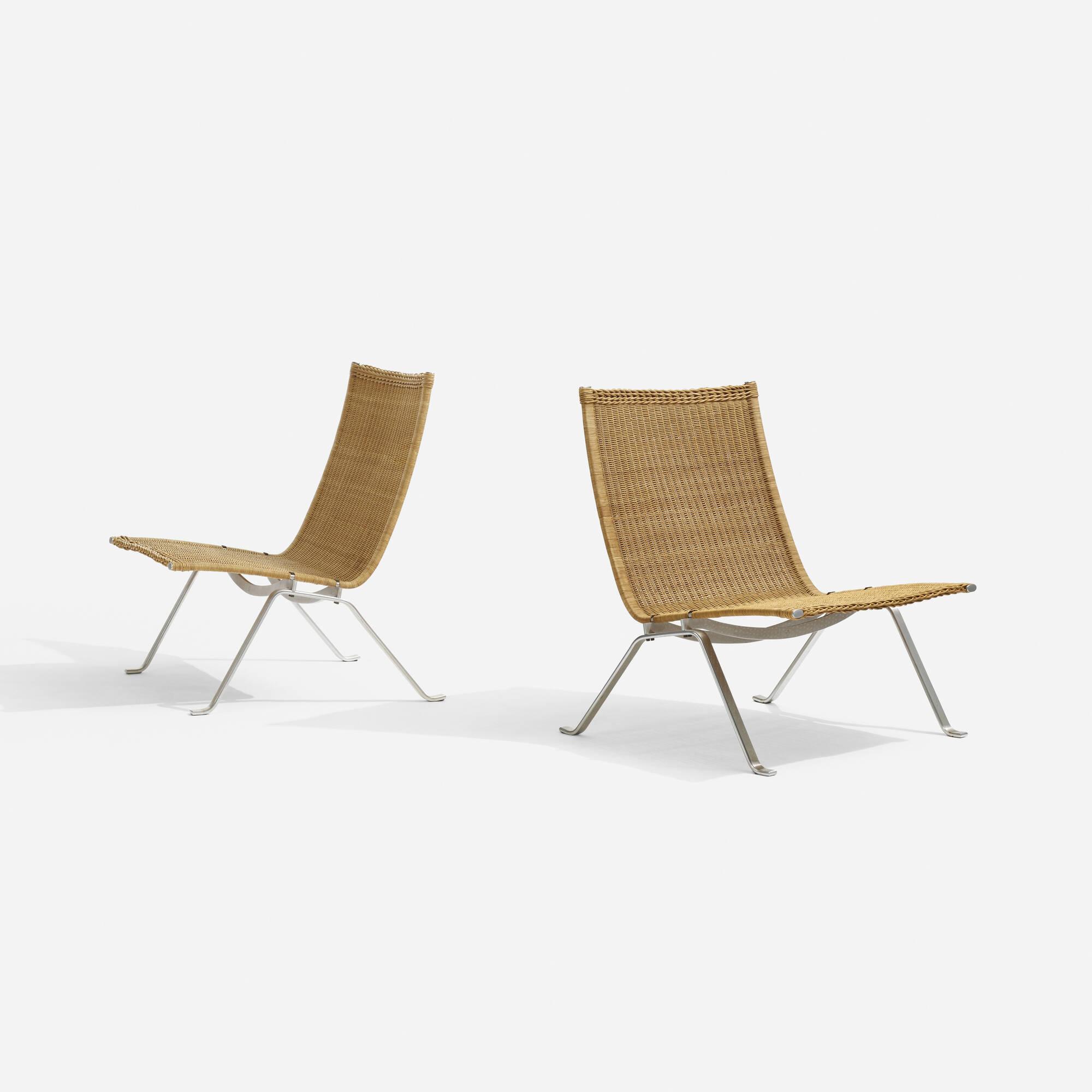 305: Poul Kjaerholm / PK-22 chairs, pair (2 of 4)