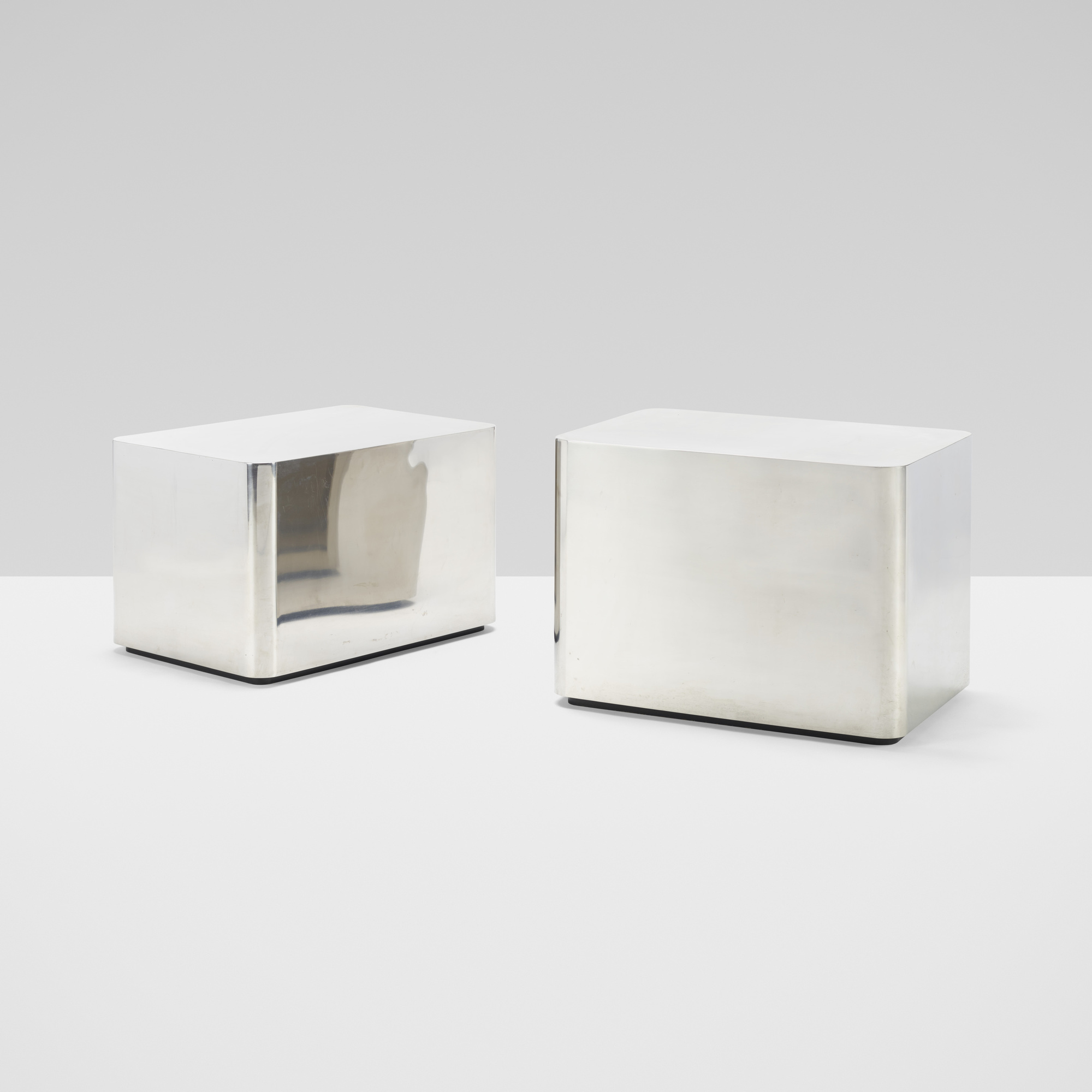 306: Karl Springer / pair of occasional tables (1 of 3)