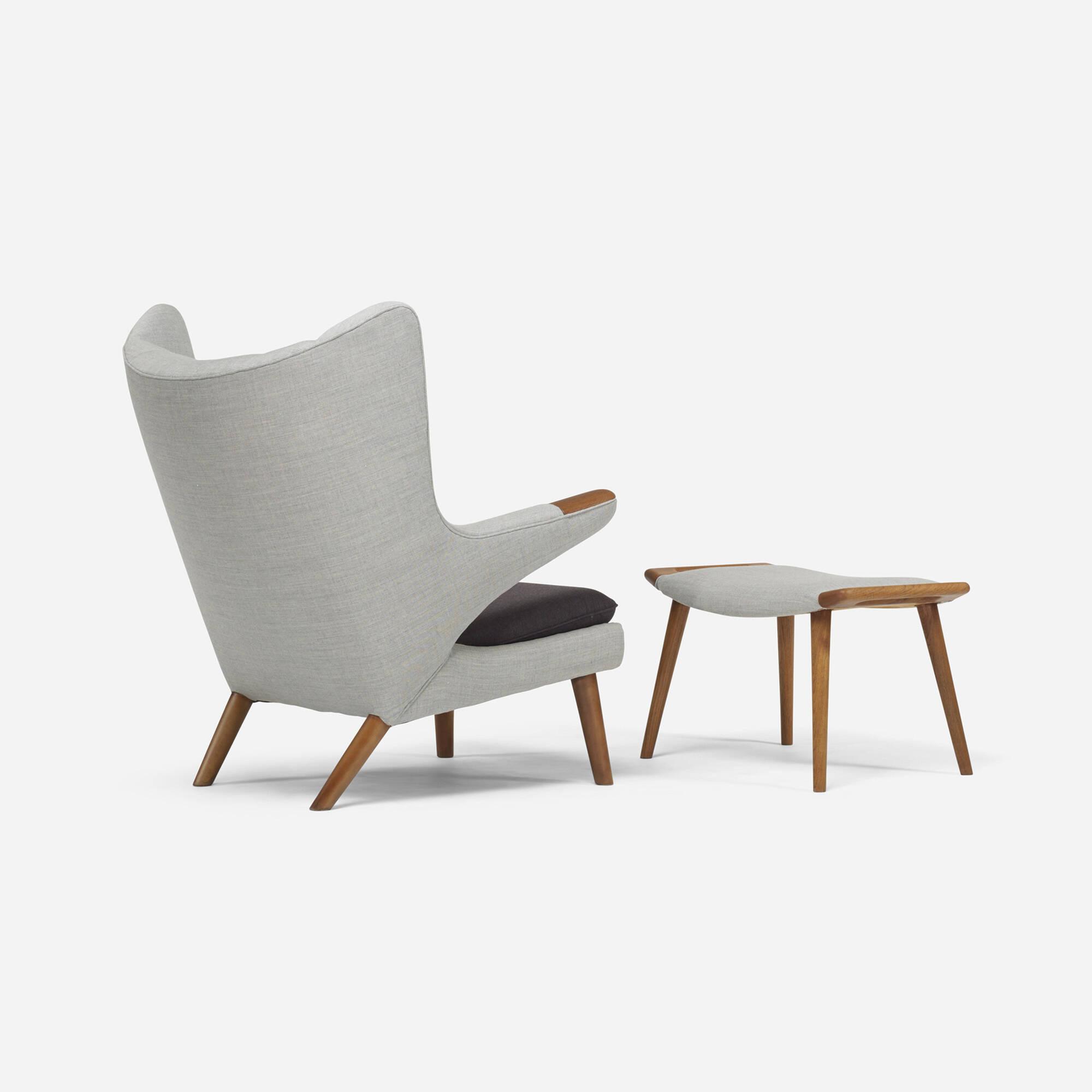 ... 306: Hans J. Wegner / Papa Bear Chair And Ottoman (2 Of 4