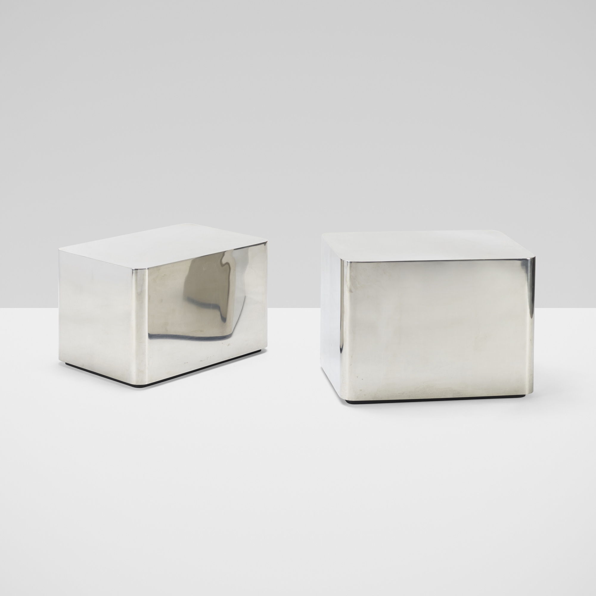 306: Karl Springer / pair of occasional tables (2 of 3)