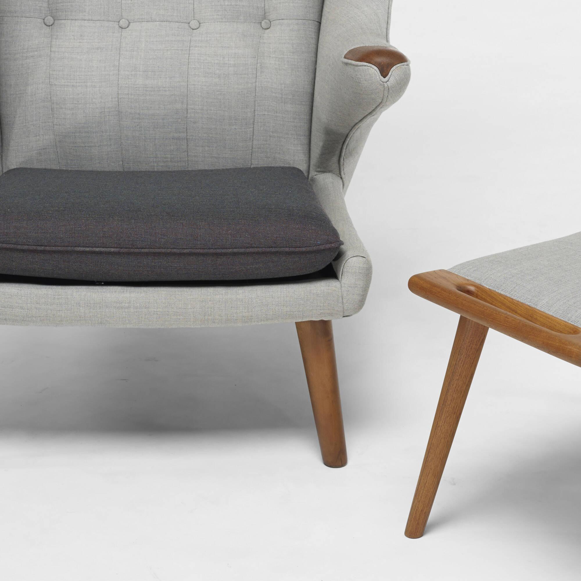 306 Hans J Wegner Papa Bear chair and ottoman Design 12