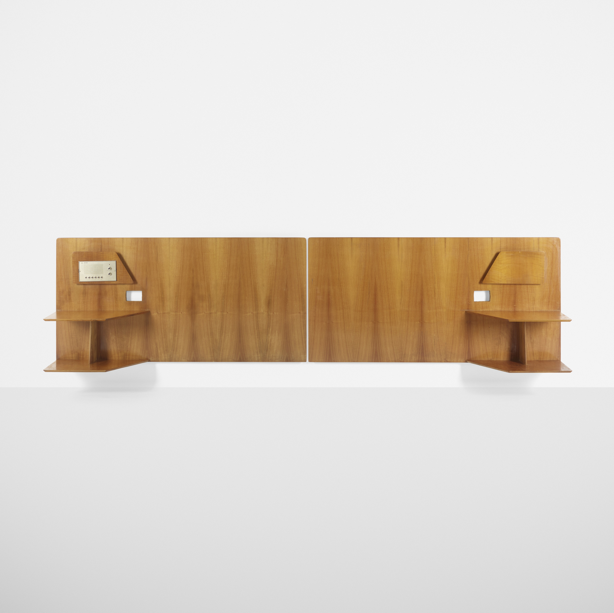 309: Gio Ponti / pair of headboards from Royal Hotel, Naples (1 of 1)