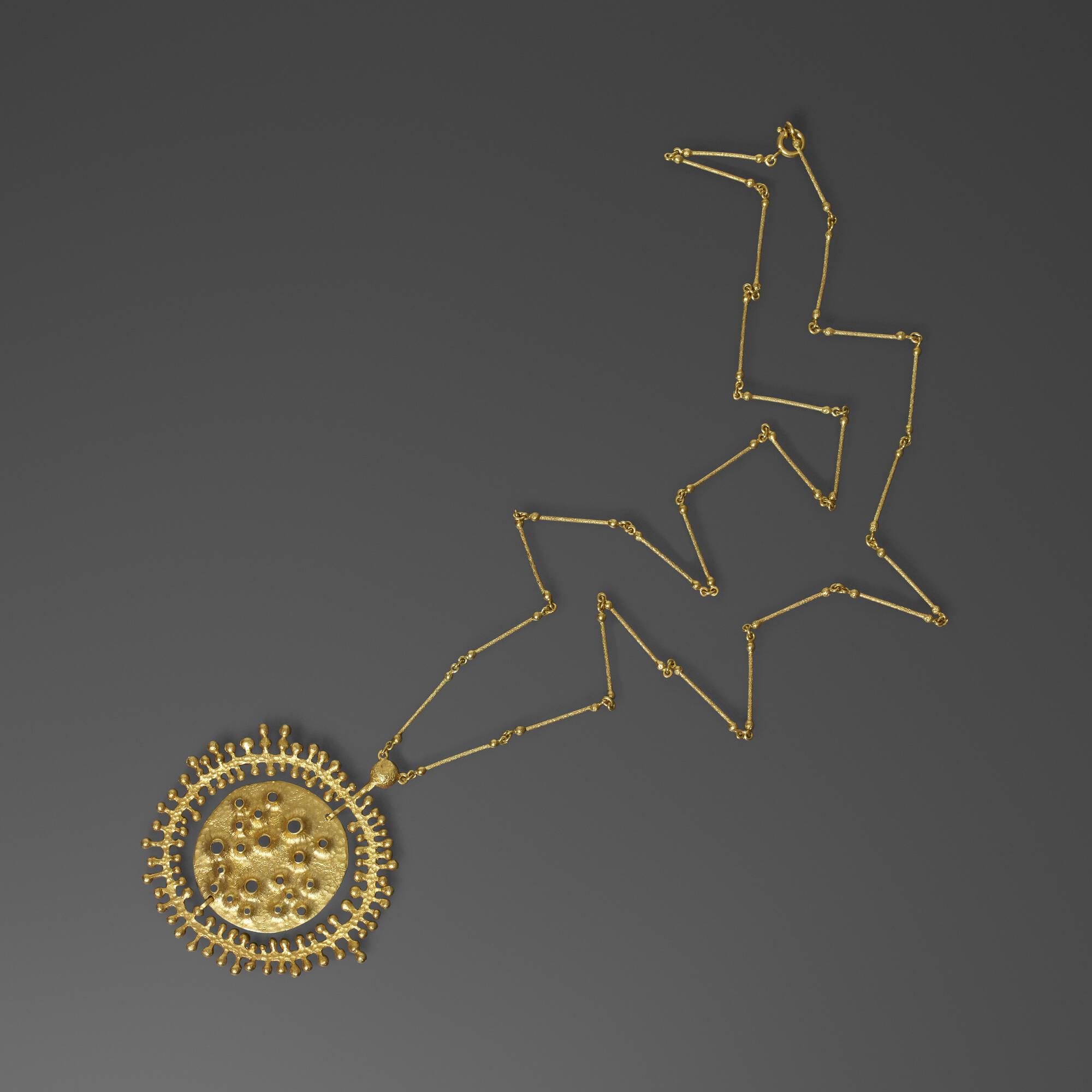 309: Tapio Wirkkala / Moon Landscape necklace (1 of 1)