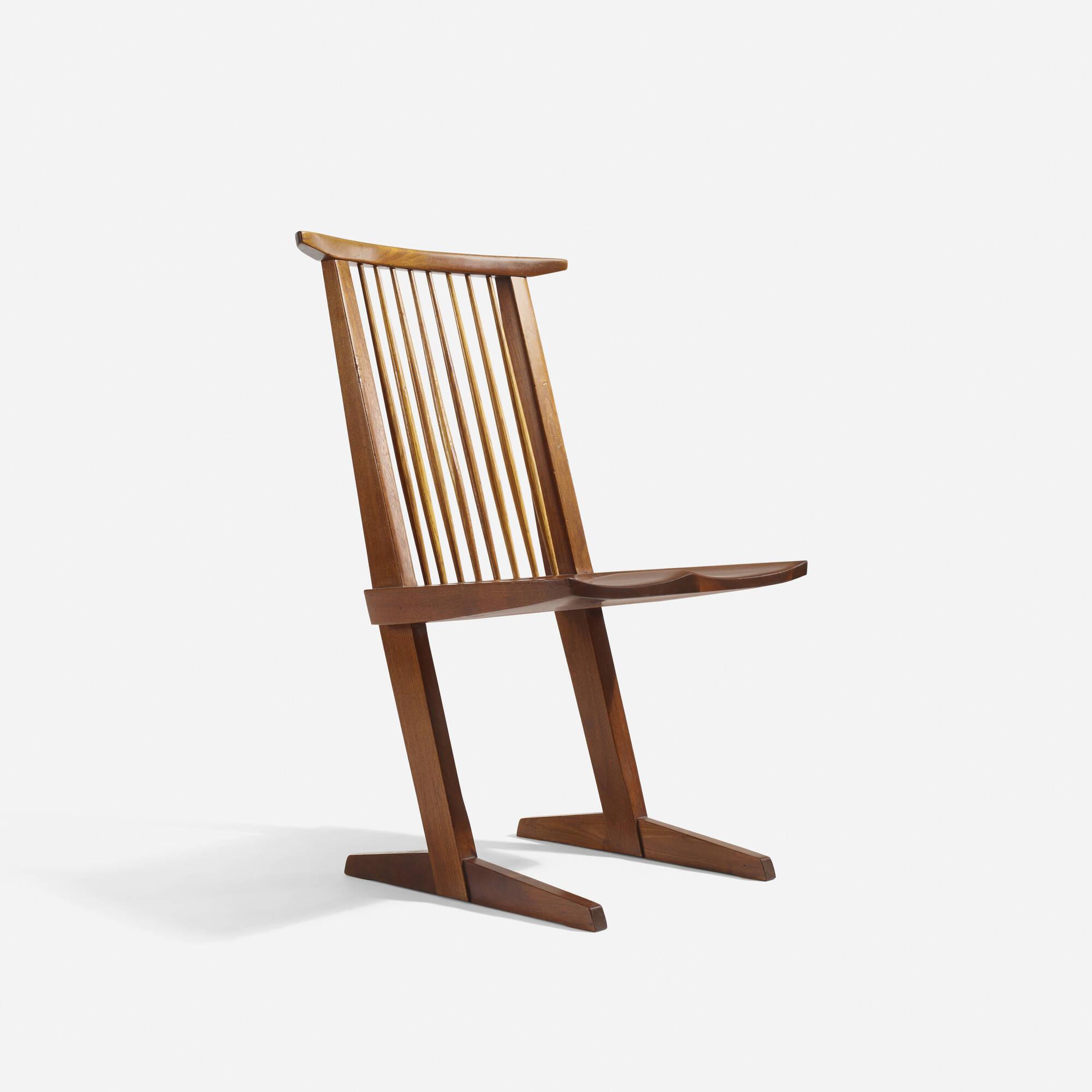 30 George Nakashima Conoid Dining Chairs set of six