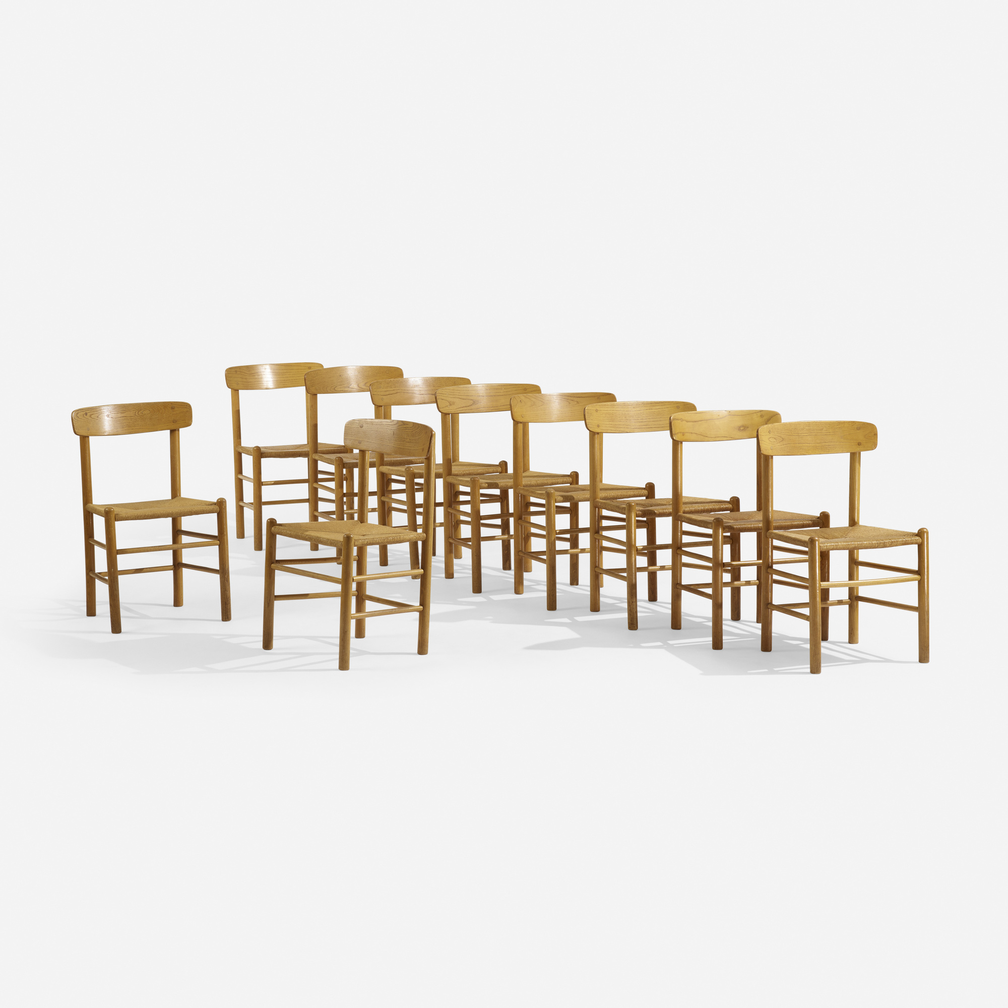 311: Borge Mogensen, attribution / dining chairs, set of ten (1 of 5)