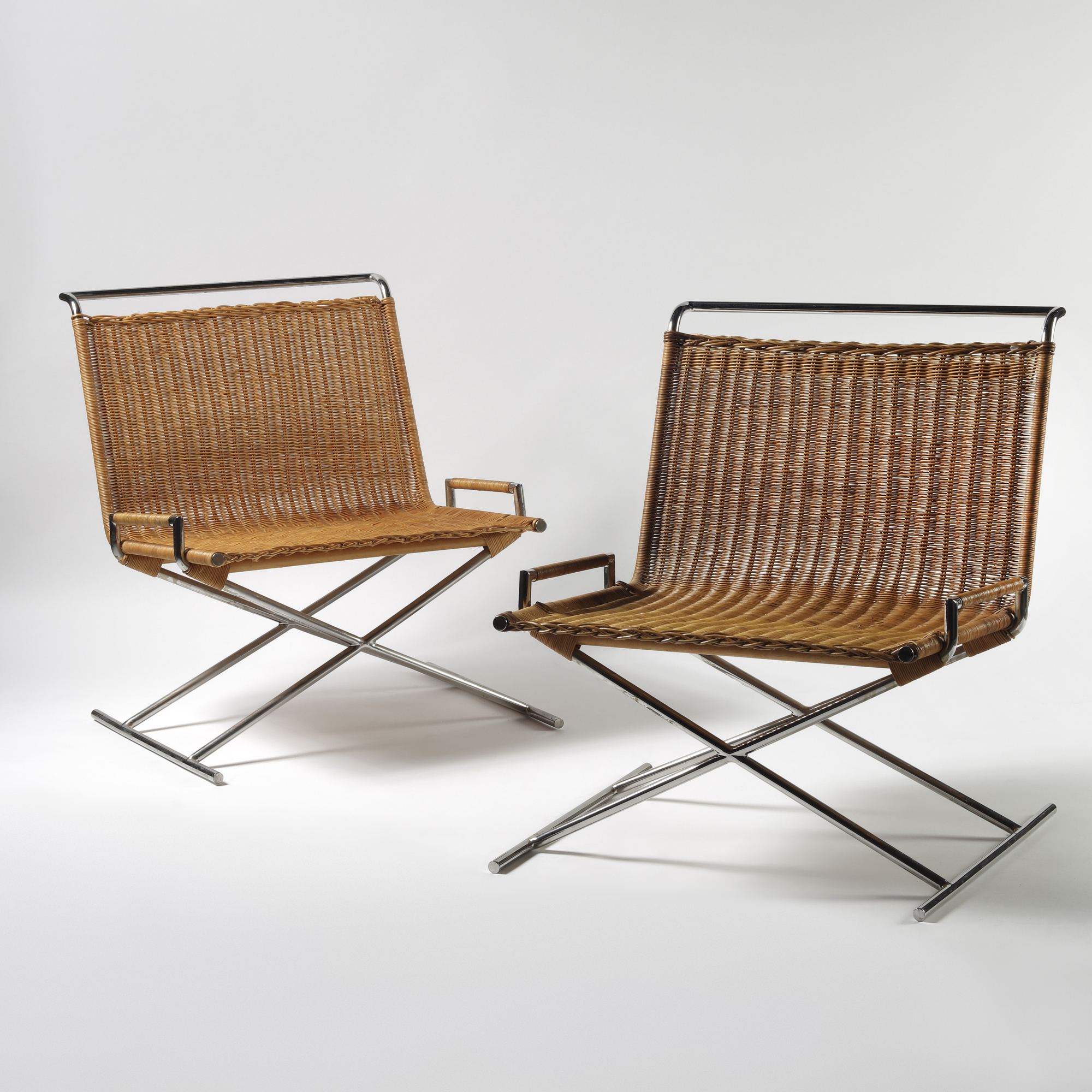 311: Ward Bennett / Sled chairs, pair (2 of 2)