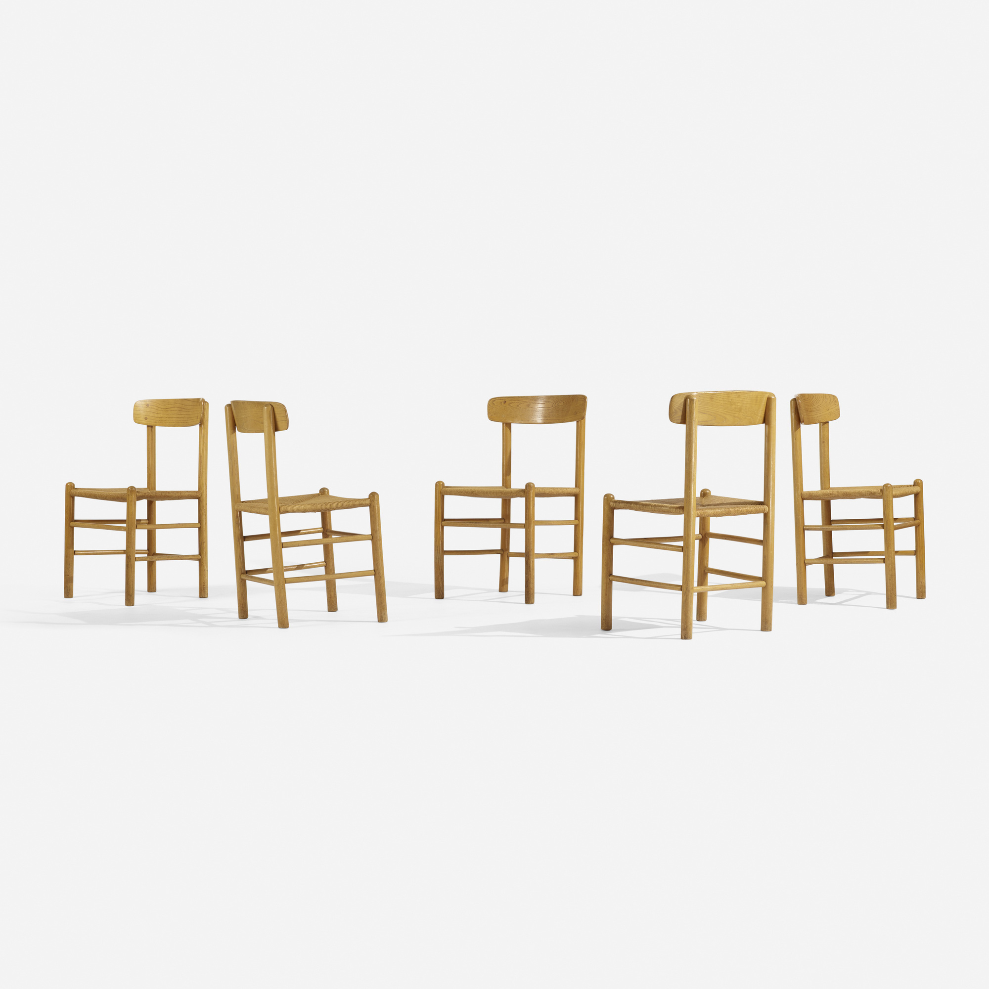 311: Borge Mogensen, attribution / dining chairs, set of ten (3 of 5)