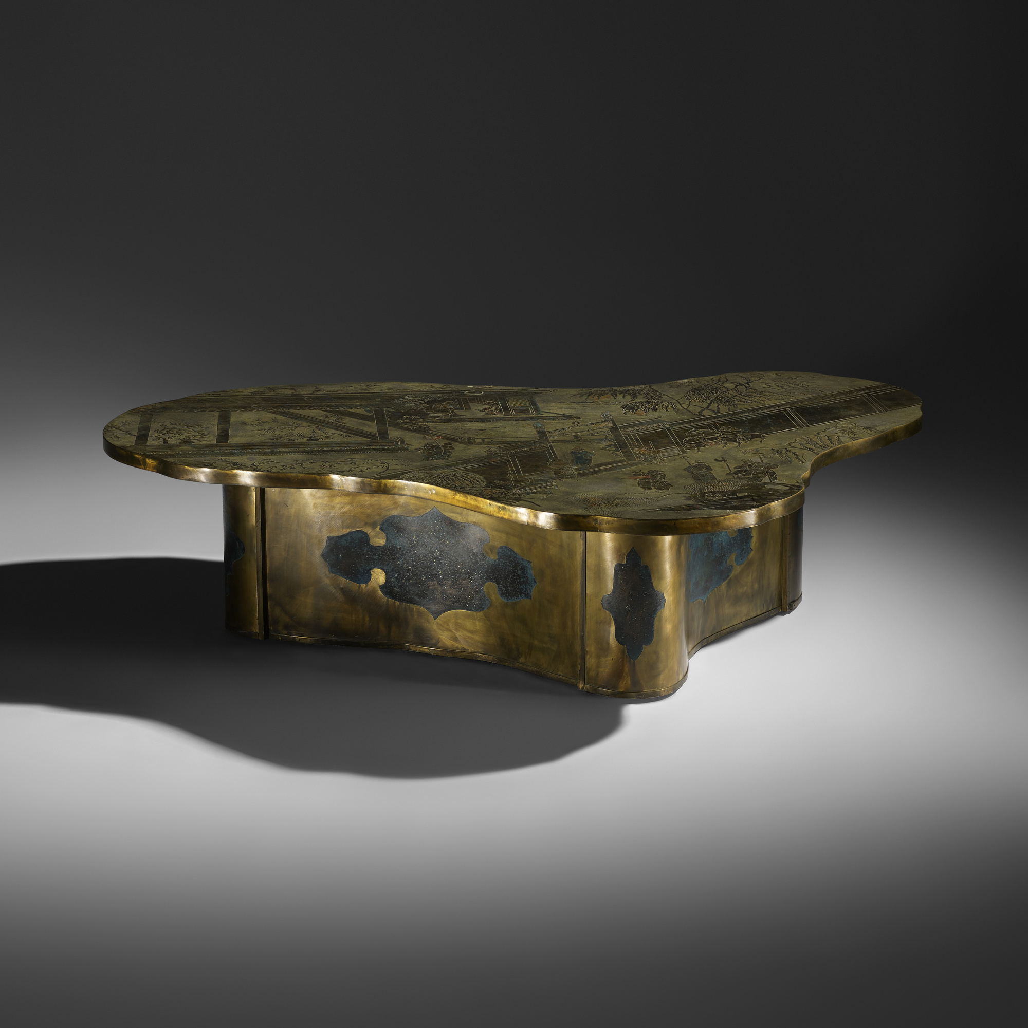 312 PHILIP AND KELVIN LAVERNE rare Chan coffee table Design