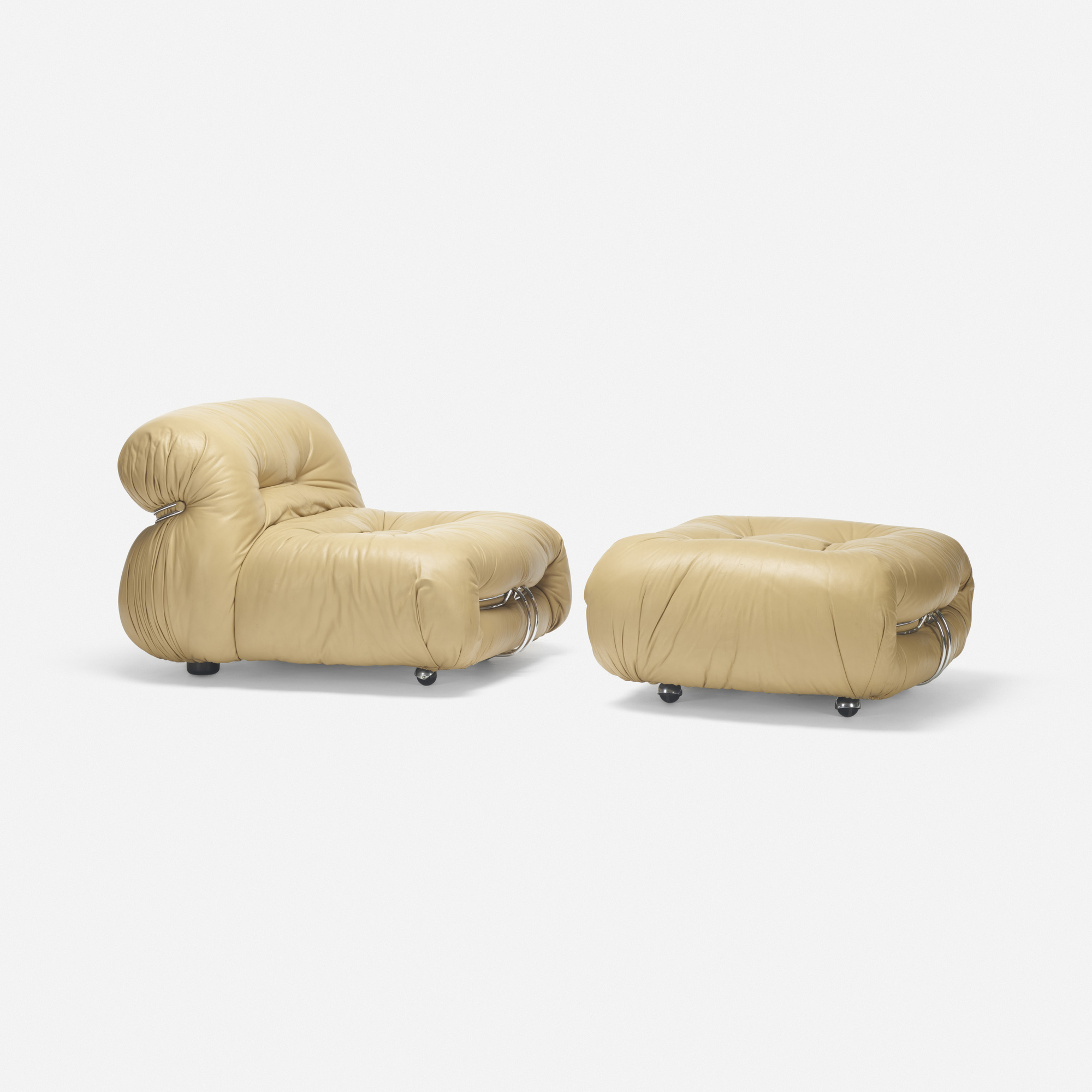 313: Afra and Tobia Scarpa / Soriana lounge chair and ottoman (1 of 2)