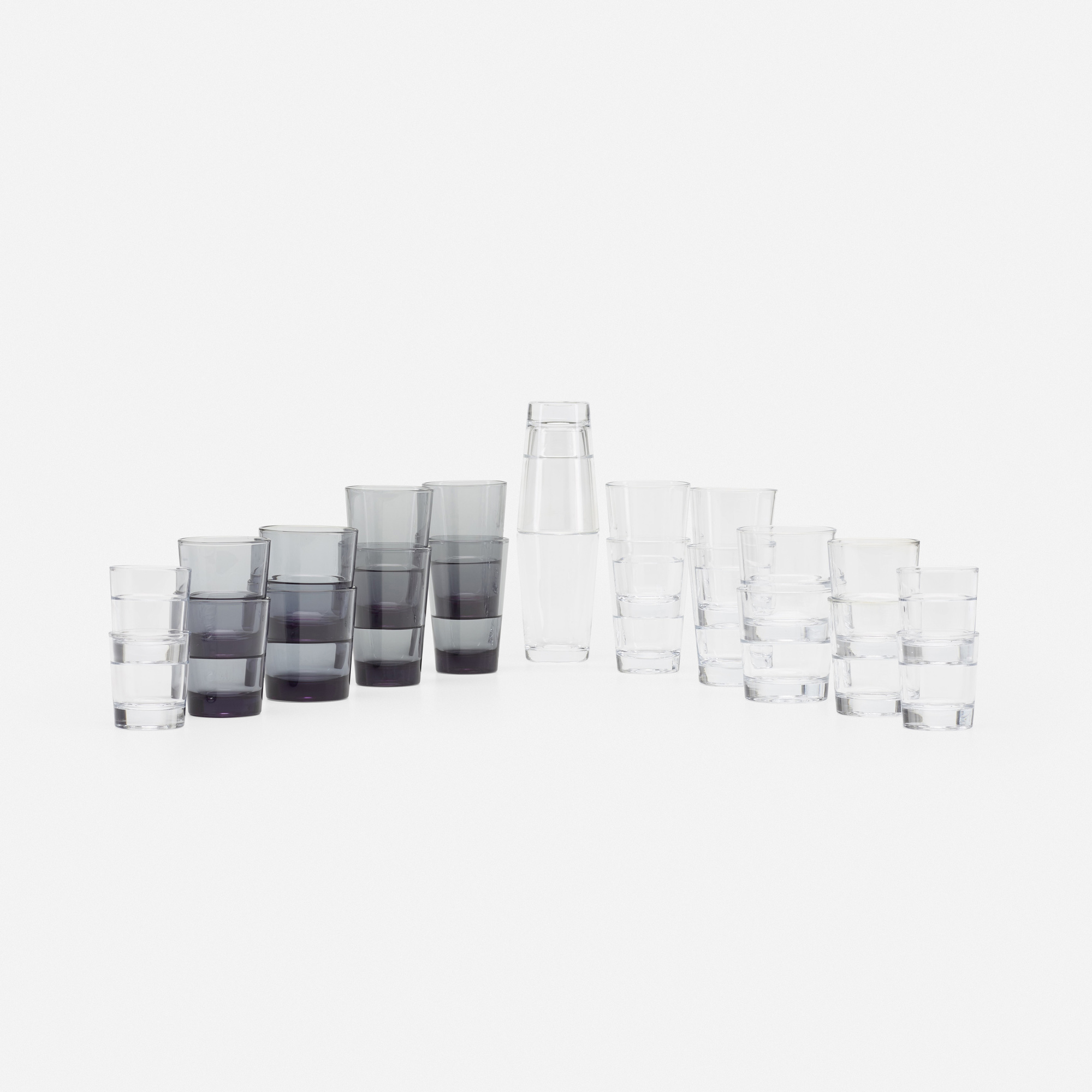 313: Konstantin Grcic / collection of twenty Relations glasses and cocktail shaker (1 of 2)