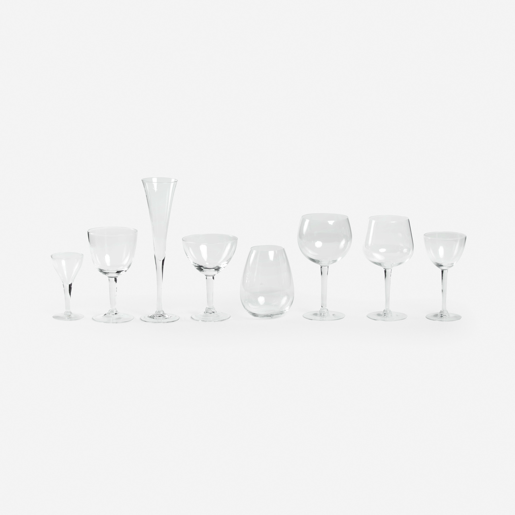 313: Garth and Ada Louise Huxtable / Stemware Collection from The Four Seasons, service for twelve (1 of 1)