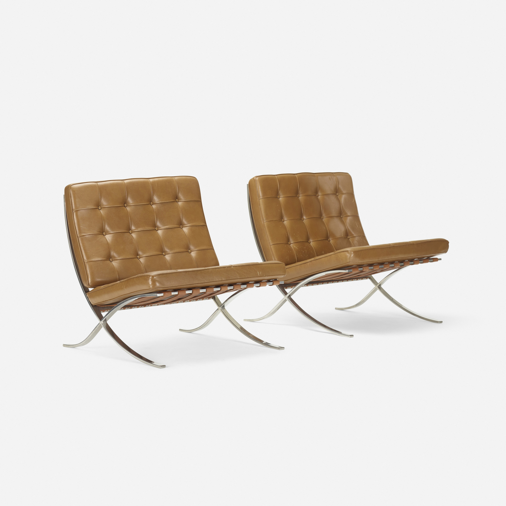 313 Ludwig Mies Van Der Rohe Barcelona Chairs Pair 2 Of