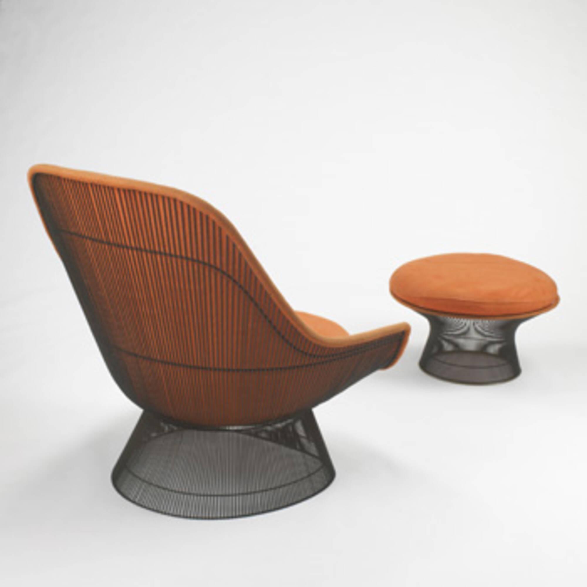 Excellent 314 Warren Platner Lounge Chair And Ottoman Modern Andrewgaddart Wooden Chair Designs For Living Room Andrewgaddartcom