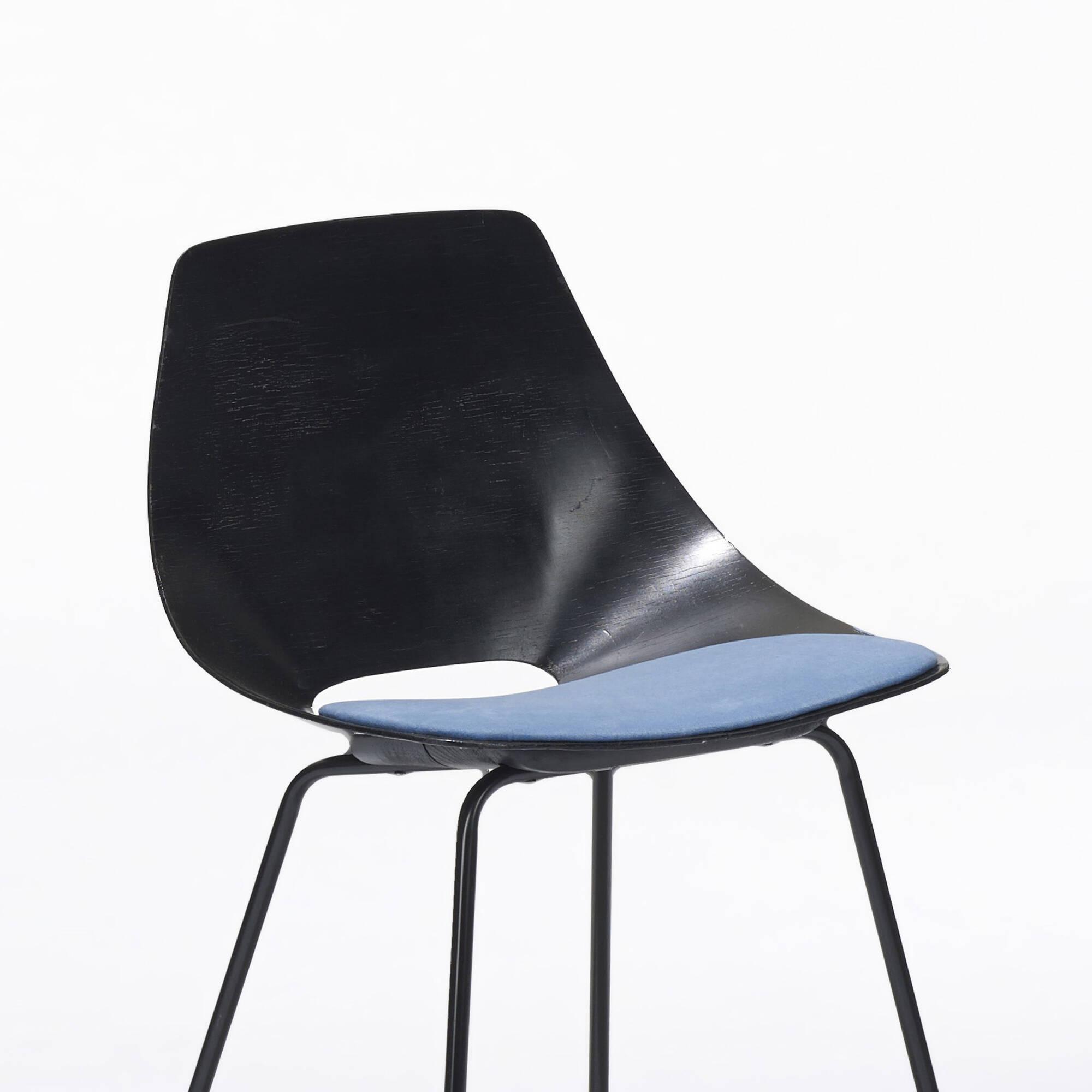 314: Pierre Guariche / Tonneau chairs, set of six (2 of 4)