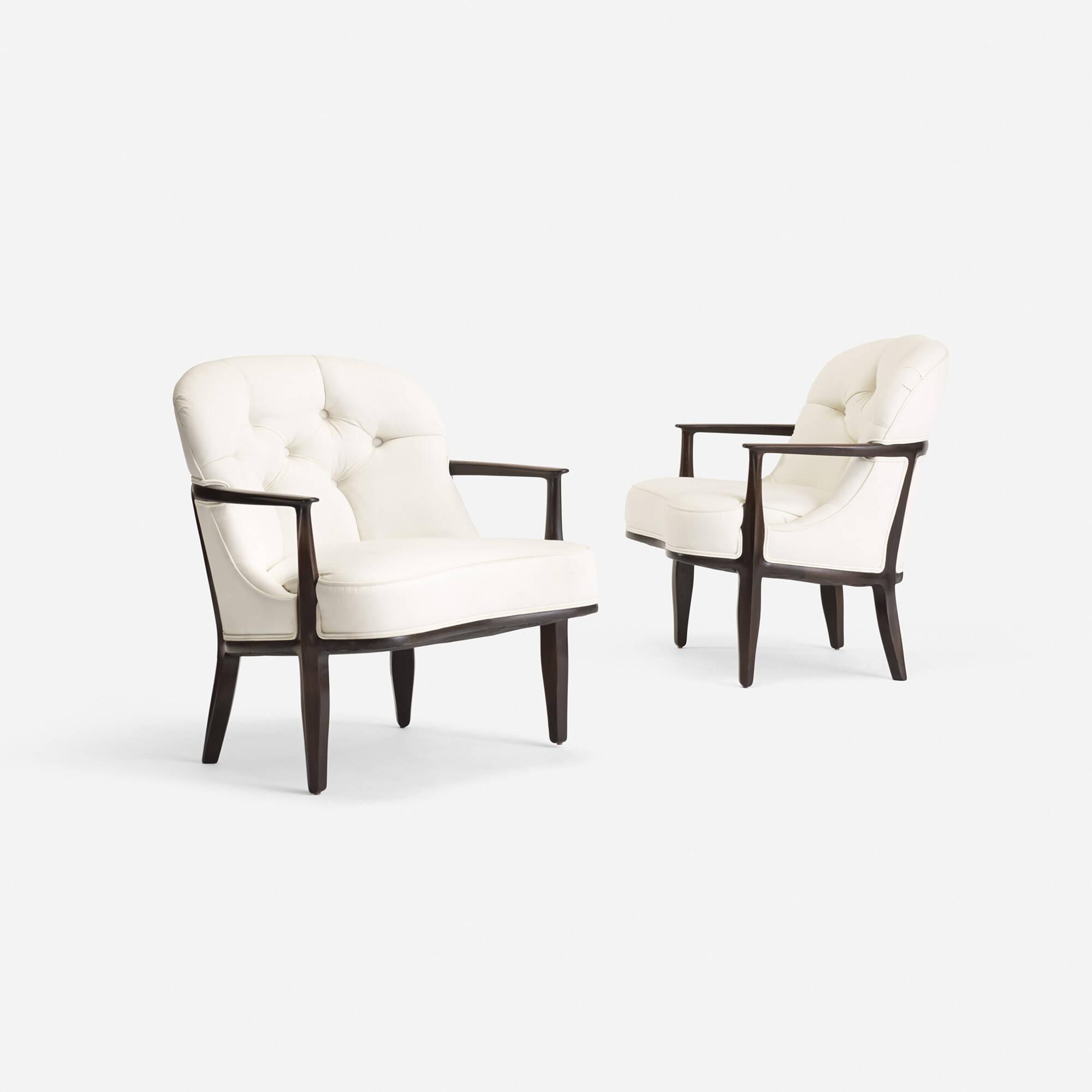 314 Edward Wormley Janus lounge chairs model 5705 pair